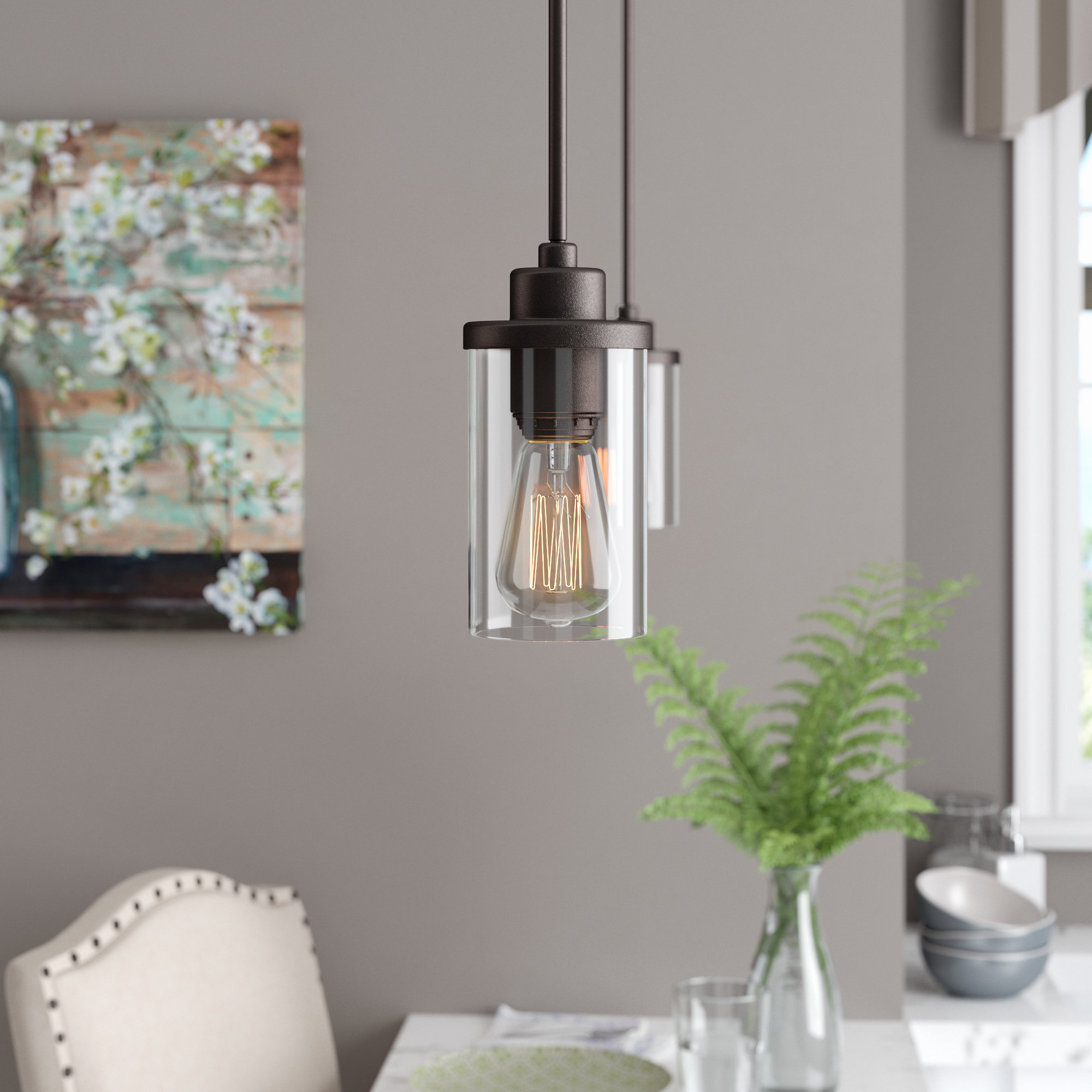 Sue 1 Light Single Jar Pendants Inside Preferred Laurel Foundry Modern Farmhouse Florine 1 Light Single (View 16 of 25)