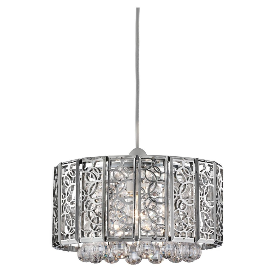 Suki 5 Light Shaded Chandeliers With Newest Suki Pendant Light Shade Chrome (View 18 of 25)