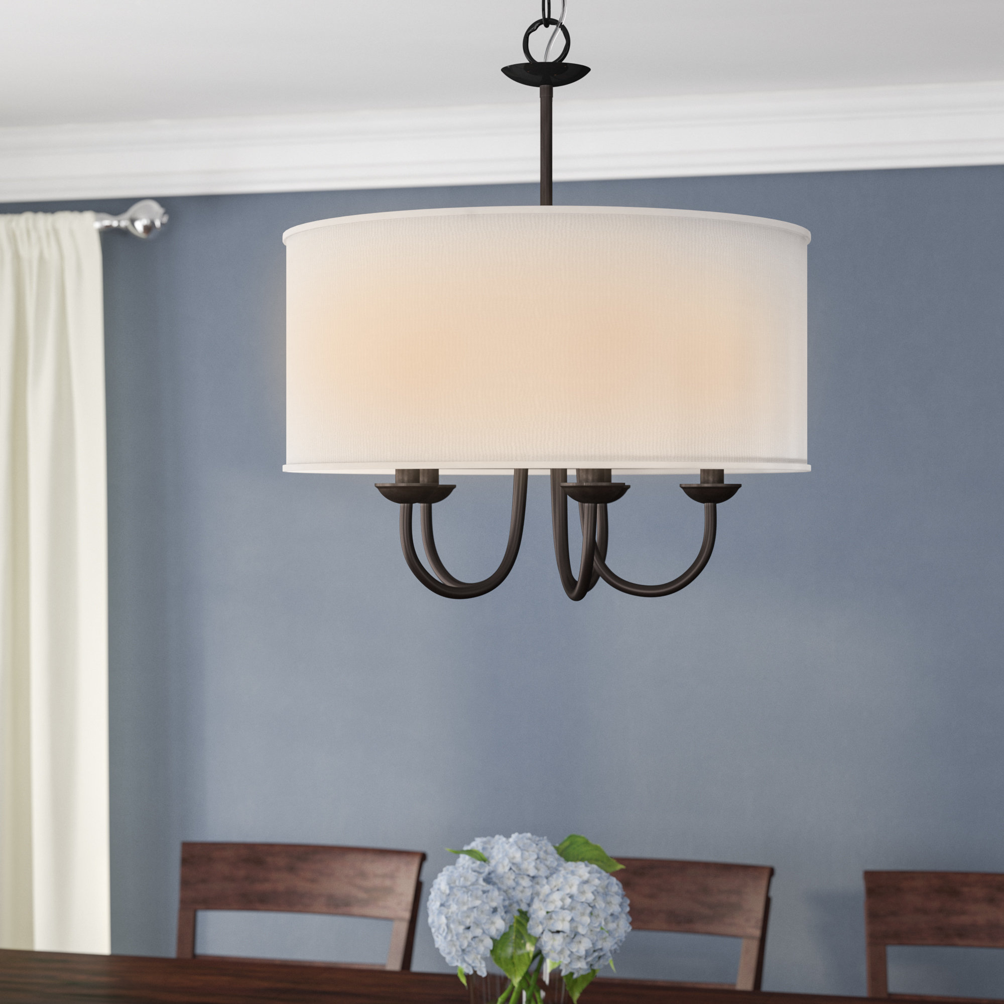 Sylvestre 5 Light Drum Chandelier In Best And Newest Harlan 5 Light Drum Chandeliers (View 8 of 25)