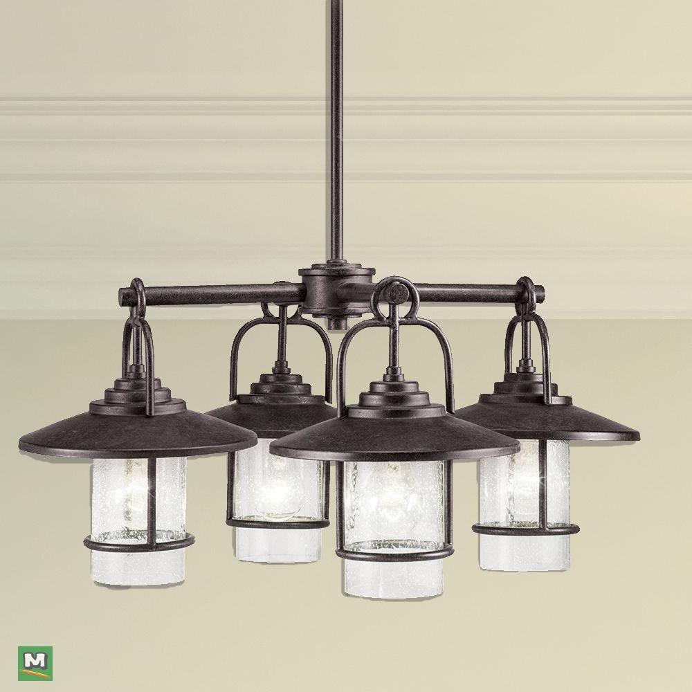 Tabit 5 Light Geometric Chandeliers For Most Popular Patriot Lighting Elegant Home Miner Bronze 4 Light (View 19 of 25)
