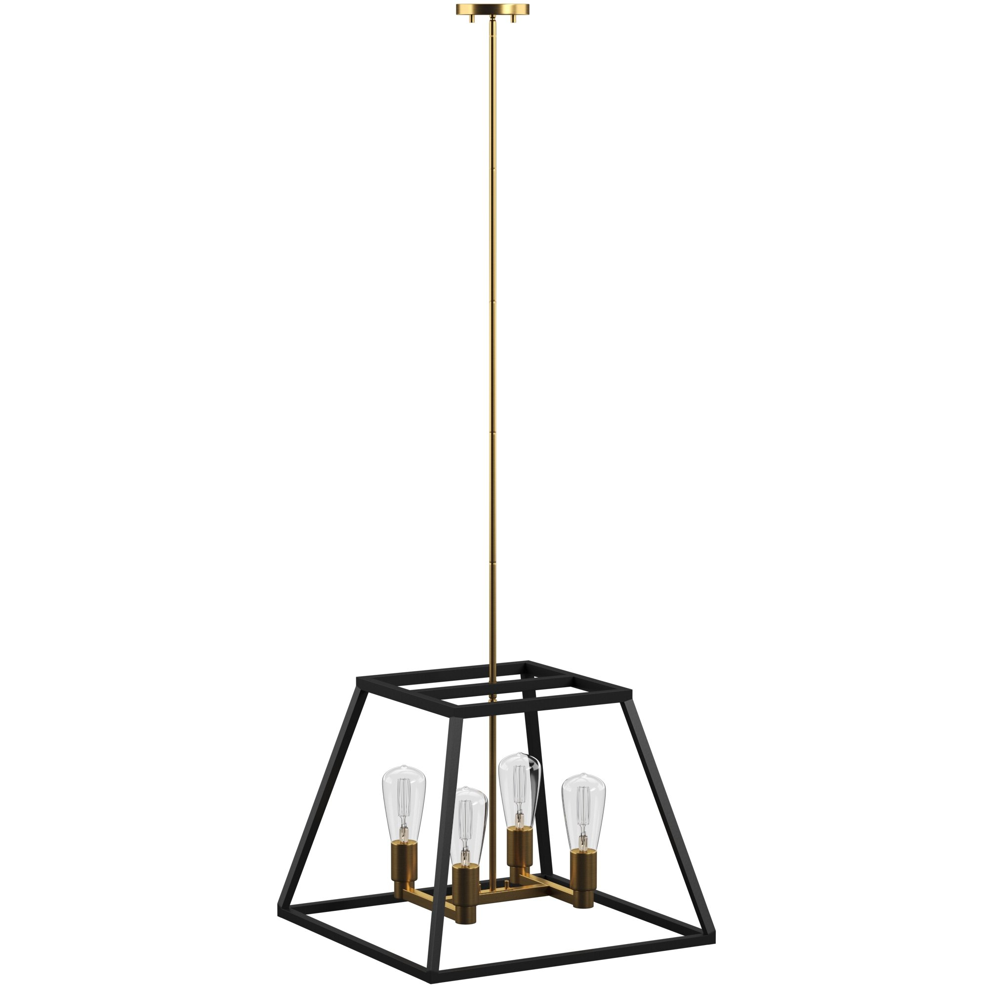 Tabit 5 Light Geometric Chandeliers Within Most Current Shisler 4 Light Square/rectangle Chandelier (View 16 of 25)