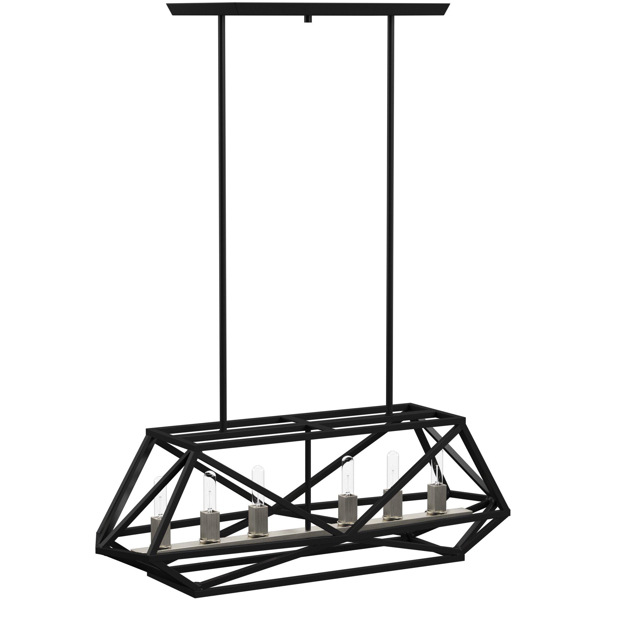 Tabit 6 Light Rectangle Chandelier Regarding Well Known Tabit 5 Light Geometric Chandeliers (View 7 of 25)