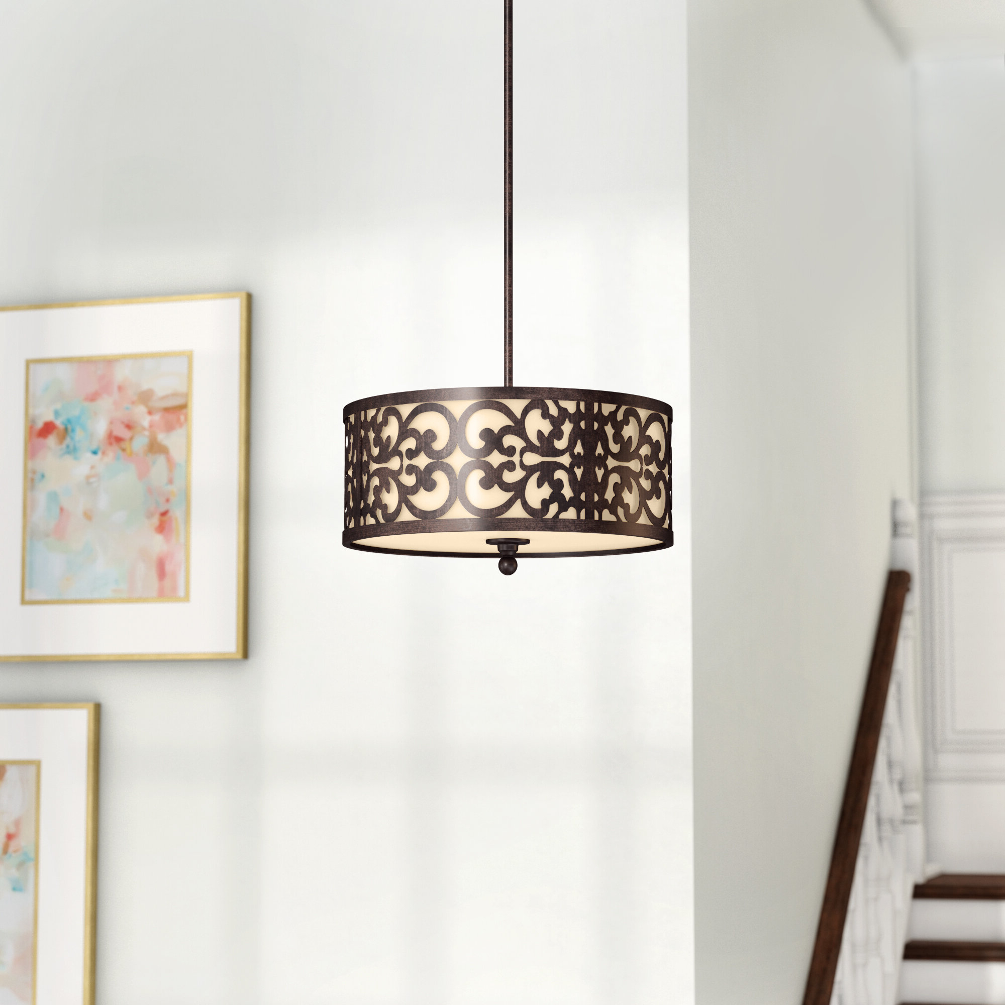 Tadwick 3 Light Single Drum Chandeliers With Current Aegean 3 Light Single Drum Pendant (View 3 of 25)