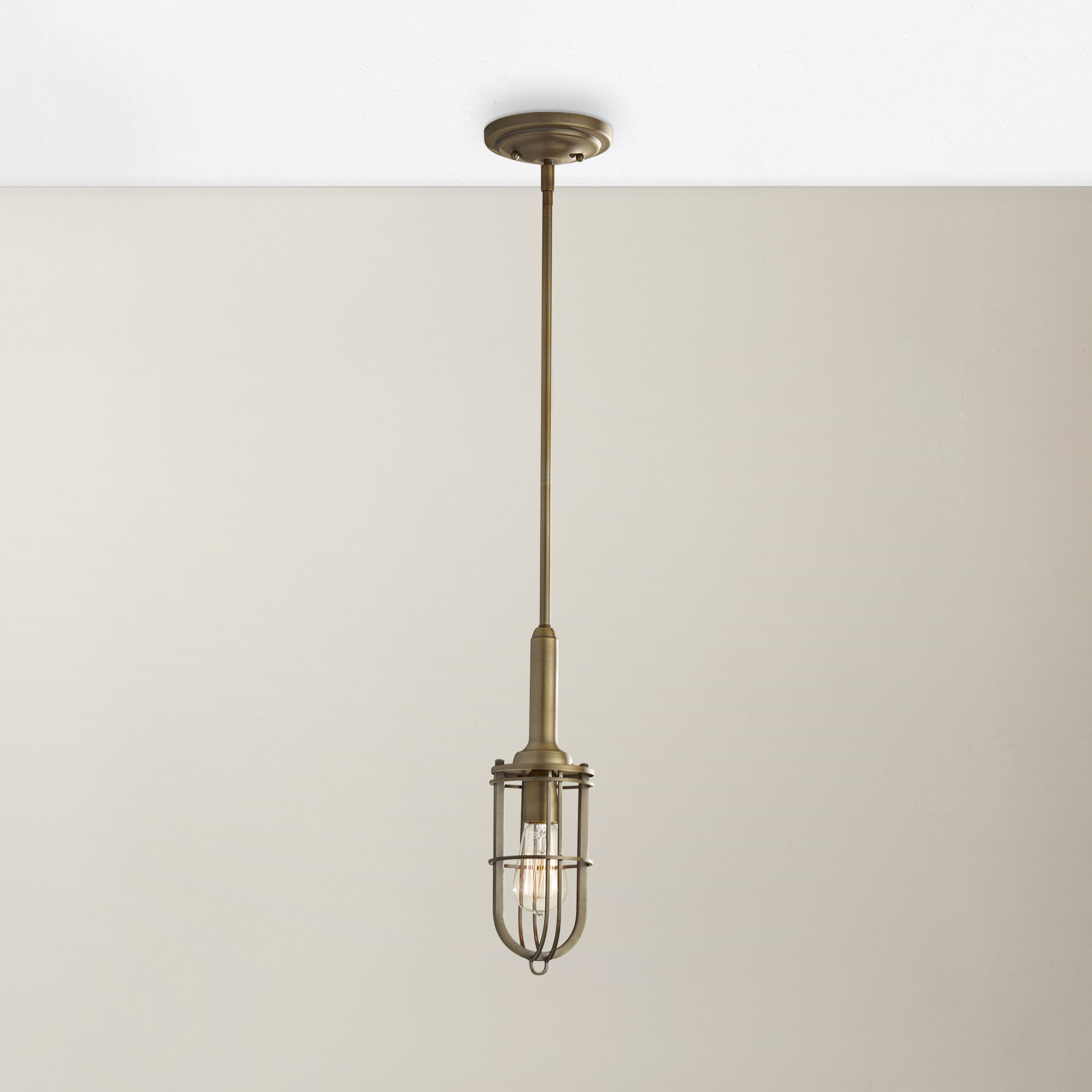 Terry 1 Light Single Bell Pendants With Most Up To Date Abordale 1 Light Geometric Pendant (View 25 of 25)