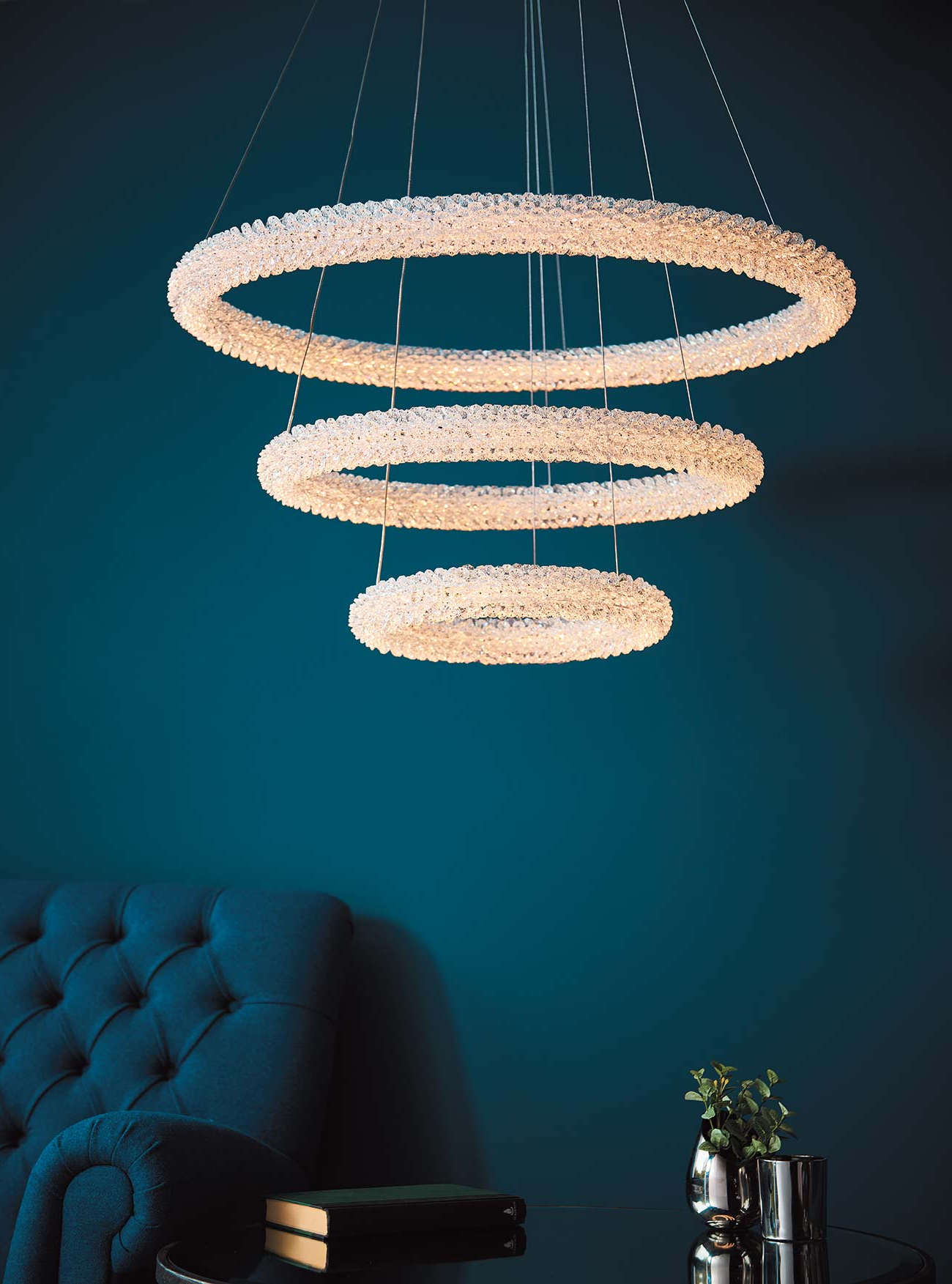 The Endon Collection – Official Uk Supplier Inside Most Popular Oriana 4 Light Single Geometric Chandeliers (View 24 of 25)