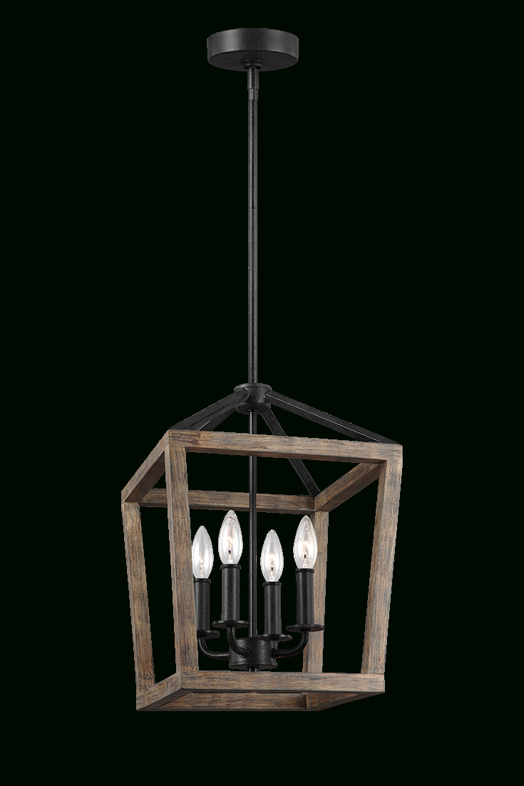 The Gannet 4 Light Chandelierfeiss Exudes Rustic Charm Inside Trendy Odie 4 Light Lantern Square Pendants (View 22 of 25)