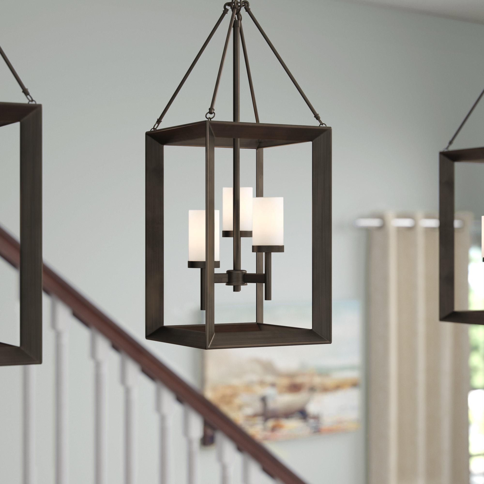 Thorne 3 Light Lantern Square Pendant Pertaining To Best And Newest Thorne 6 Light Lantern Square / Rectangle Pendants (View 7 of 25)