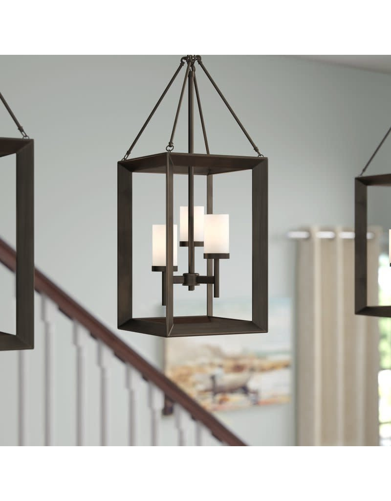 Thorne 4 Light Lantern Rectangle Pendants With Regard To 2019 Three Posts Thorne 3 Light Foyer Pendant (View 11 of 25)