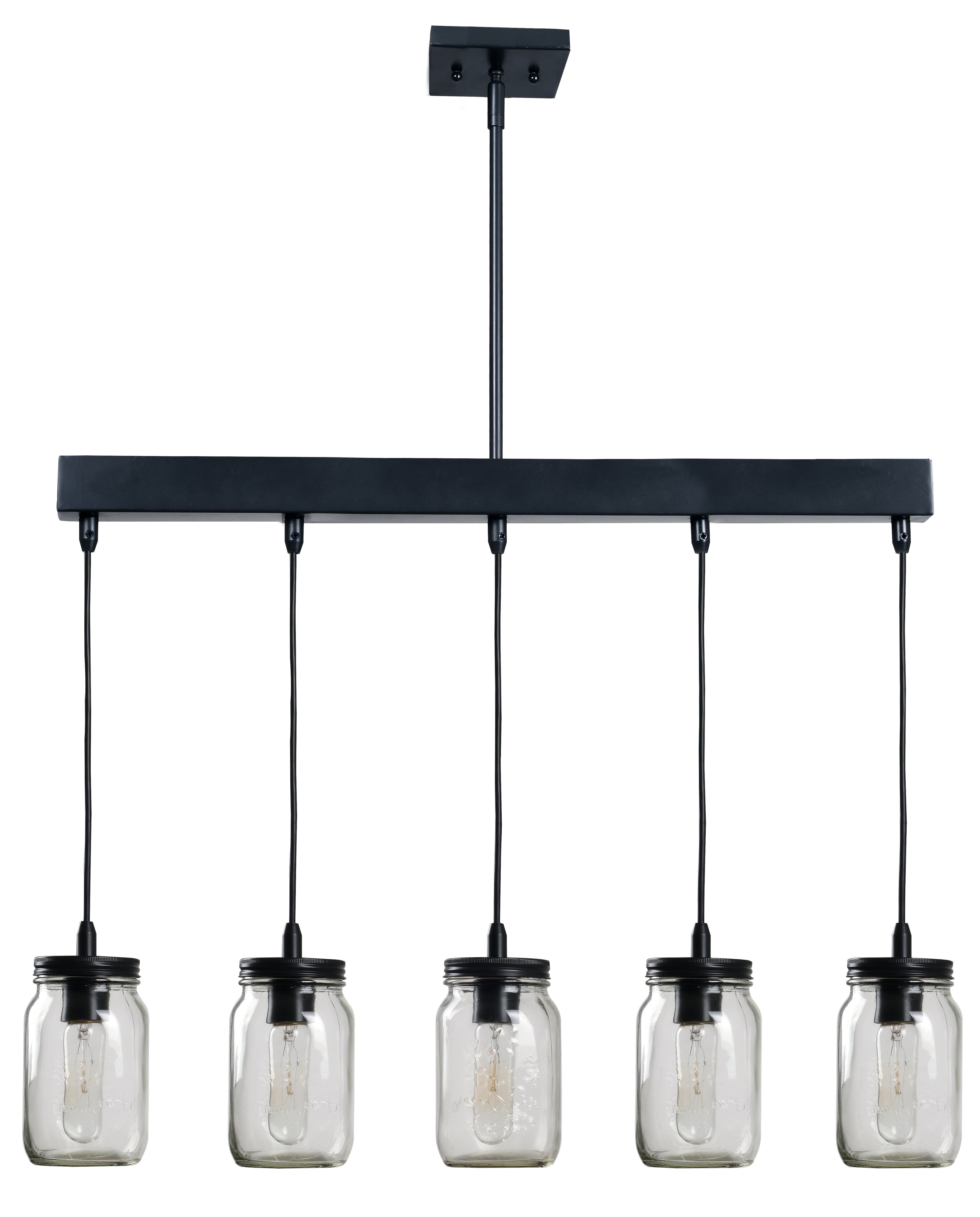 Thorne 5 Light Kitchen Island Pendants In Well Known Wednesbury 5 Light Kitchen Island Jar Pendant & Reviews (View 17 of 25)