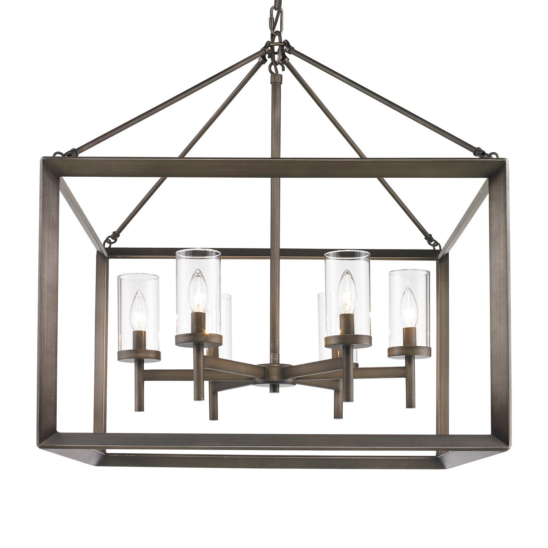 Thorne 6 Light Lantern Square / Rectangle Pendant For Widely Used Thorne 6 Light Lantern Square / Rectangle Pendants (View 2 of 25)