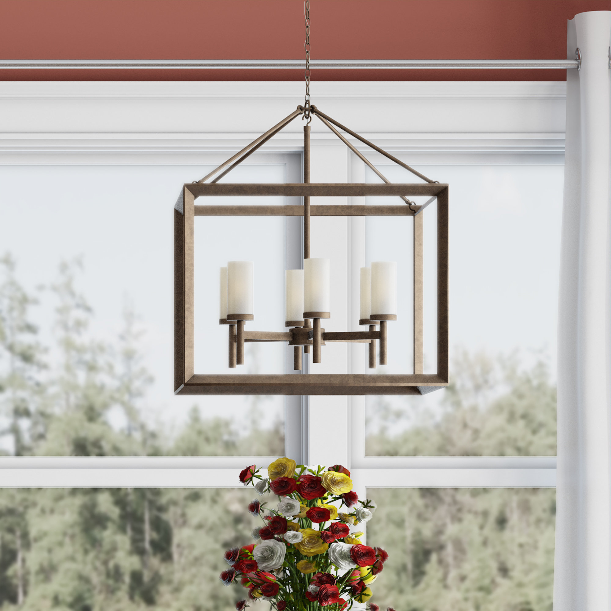 Thorne 6 Light Lantern Square / Rectangle Pendant Intended For Current Destrey 3 Light Lantern Square/rectangle Pendants (View 25 of 25)