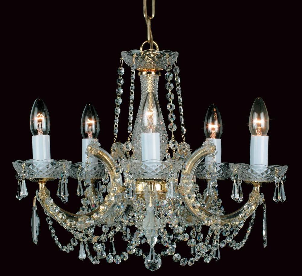 Featured Photo of Thresa 5 Light Shaded Chandeliers
