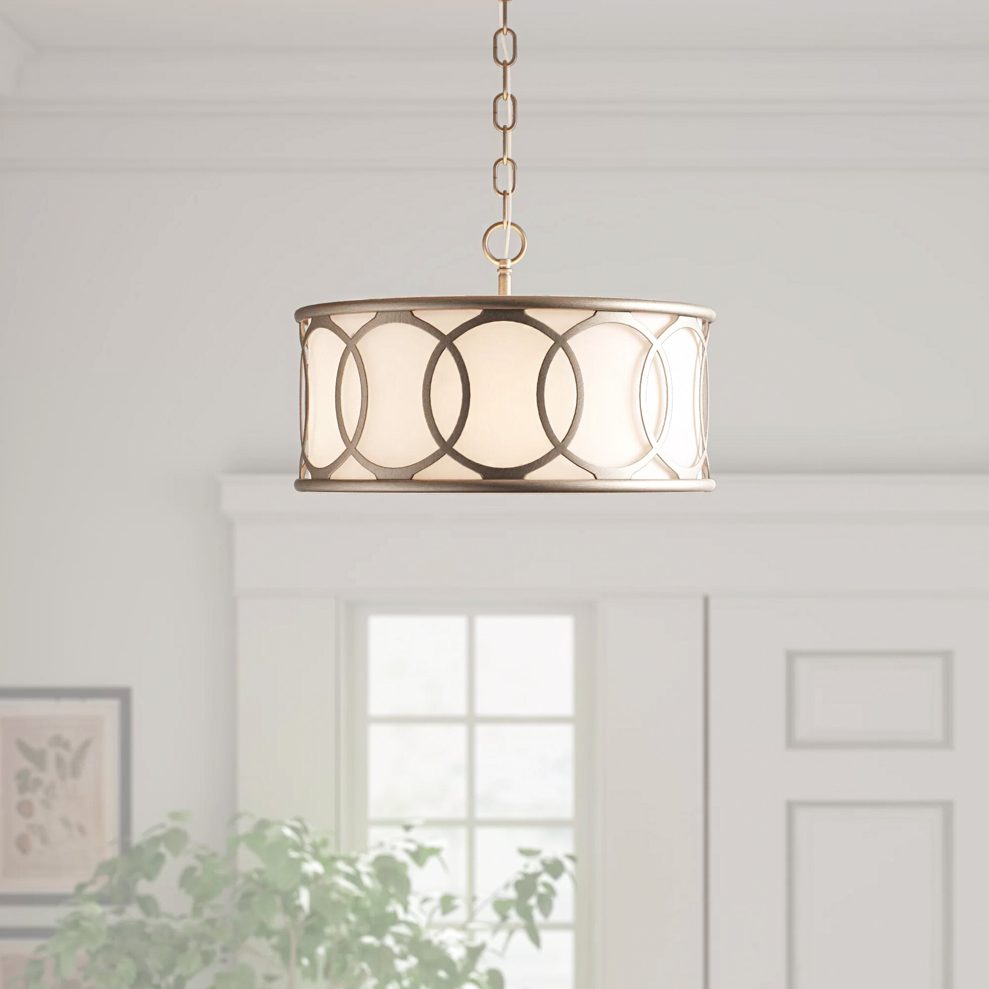Townsend 3 Light Chandelier Pertaining To 2020 Tadwick 3 Light Single Drum Chandeliers (View 7 of 25)