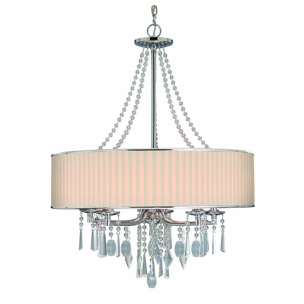 Trendy Abel 5 Light Drum Chandeliers With Regard To Golden Lighting 89815Bri Chandelier With Crystal And Bridal (View 11 of 25)
