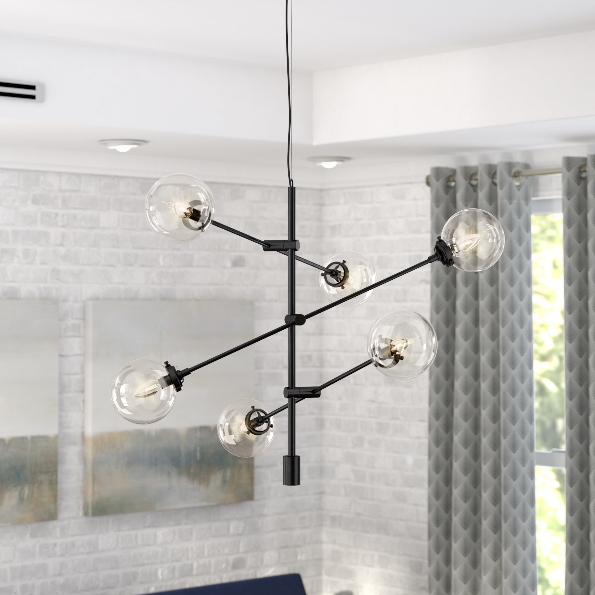 Trendy Bailey Antique 6 Light Sputnik Chandelier Intended For Eladia 6 Light Sputnik Chandeliers (View 24 of 25)