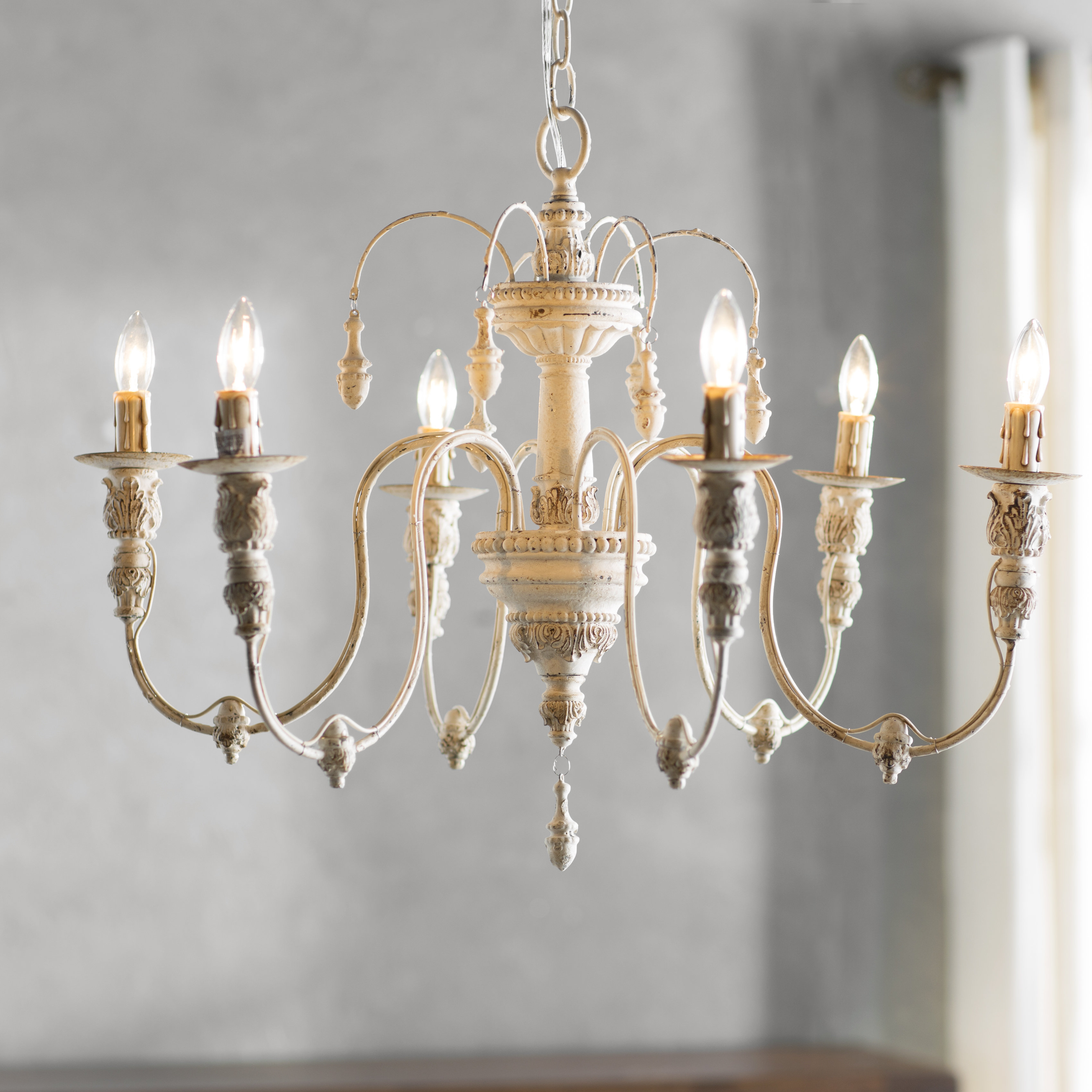 Trendy Candle Style White & Cream Chandeliers You'll Love In 2019 Within Corneau 5 Light Chandeliers (View 22 of 25)