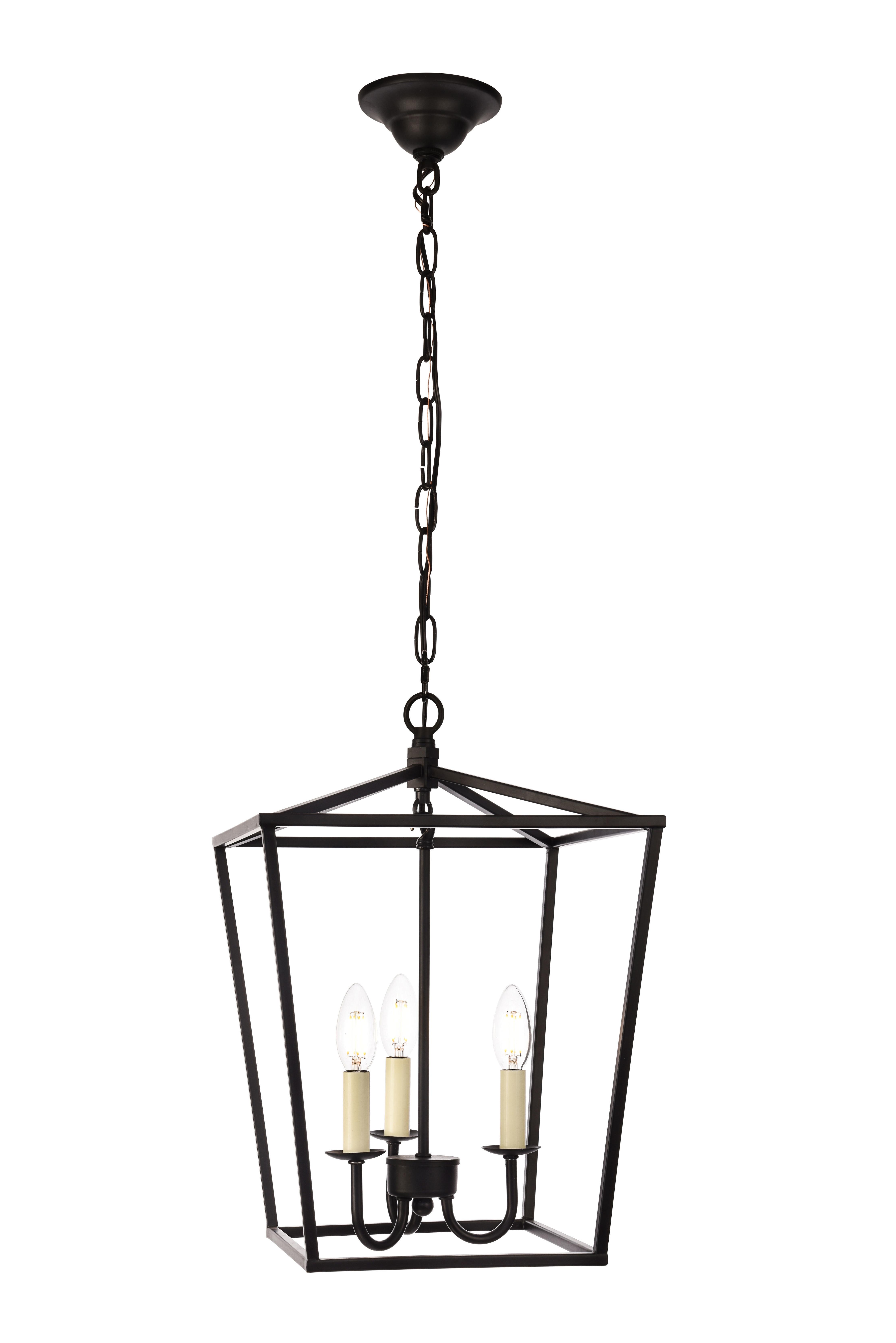 Trendy Daphne 3 Light Lantern Pendant In Isoline 2 Light Lantern Geometric Pendants (View 20 of 25)