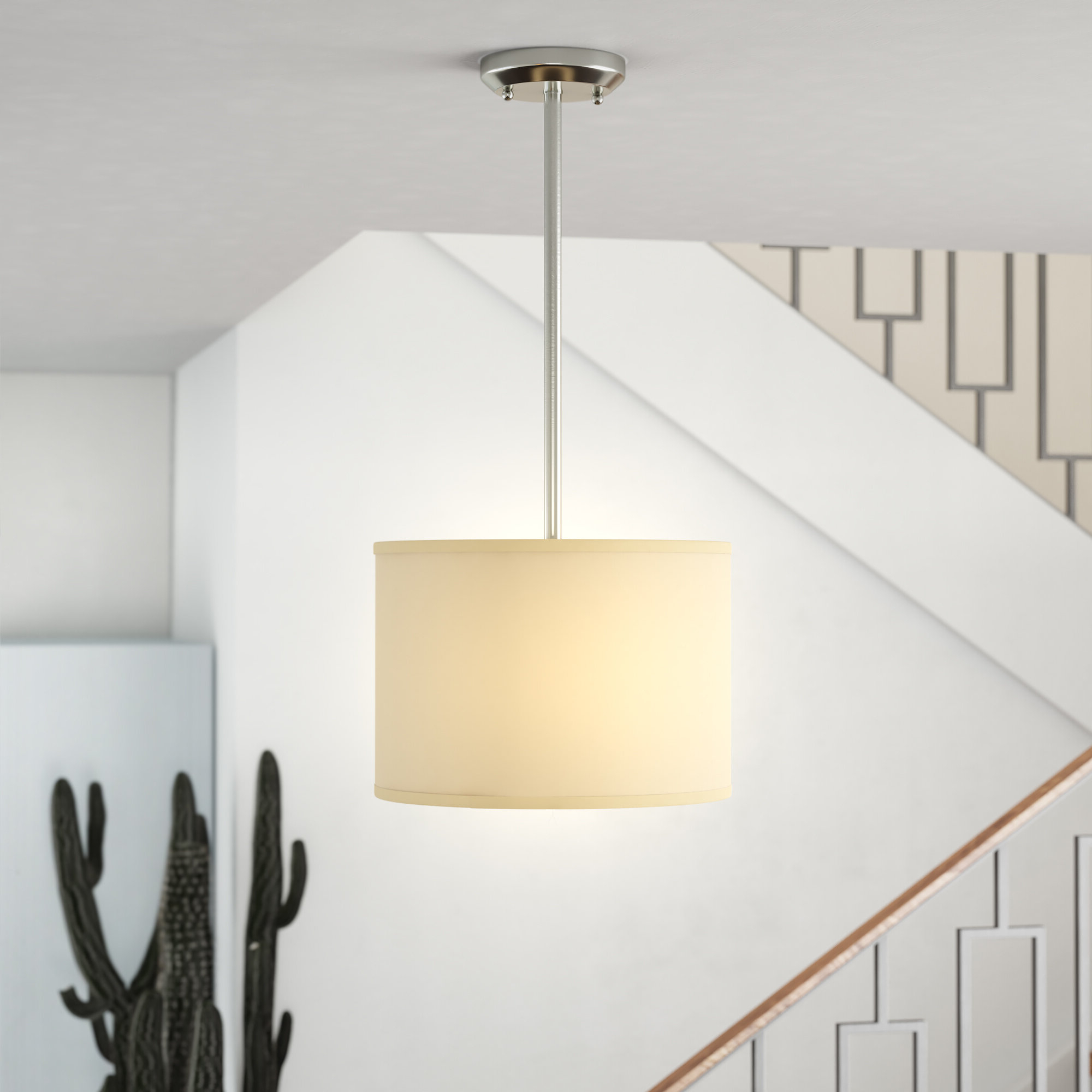 Trendy Kasey 1 Light Single Drum Pendant In Kasey 3 Light Single Drum Pendants (View 24 of 25)