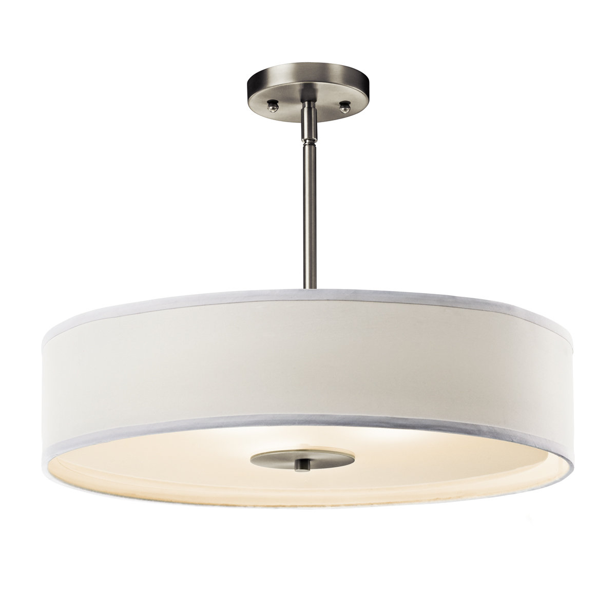 Trendy Kasey 3 Light Single Drum Pendants Pertaining To Mohnton 3 Light Drum Chandelier (View 14 of 25)