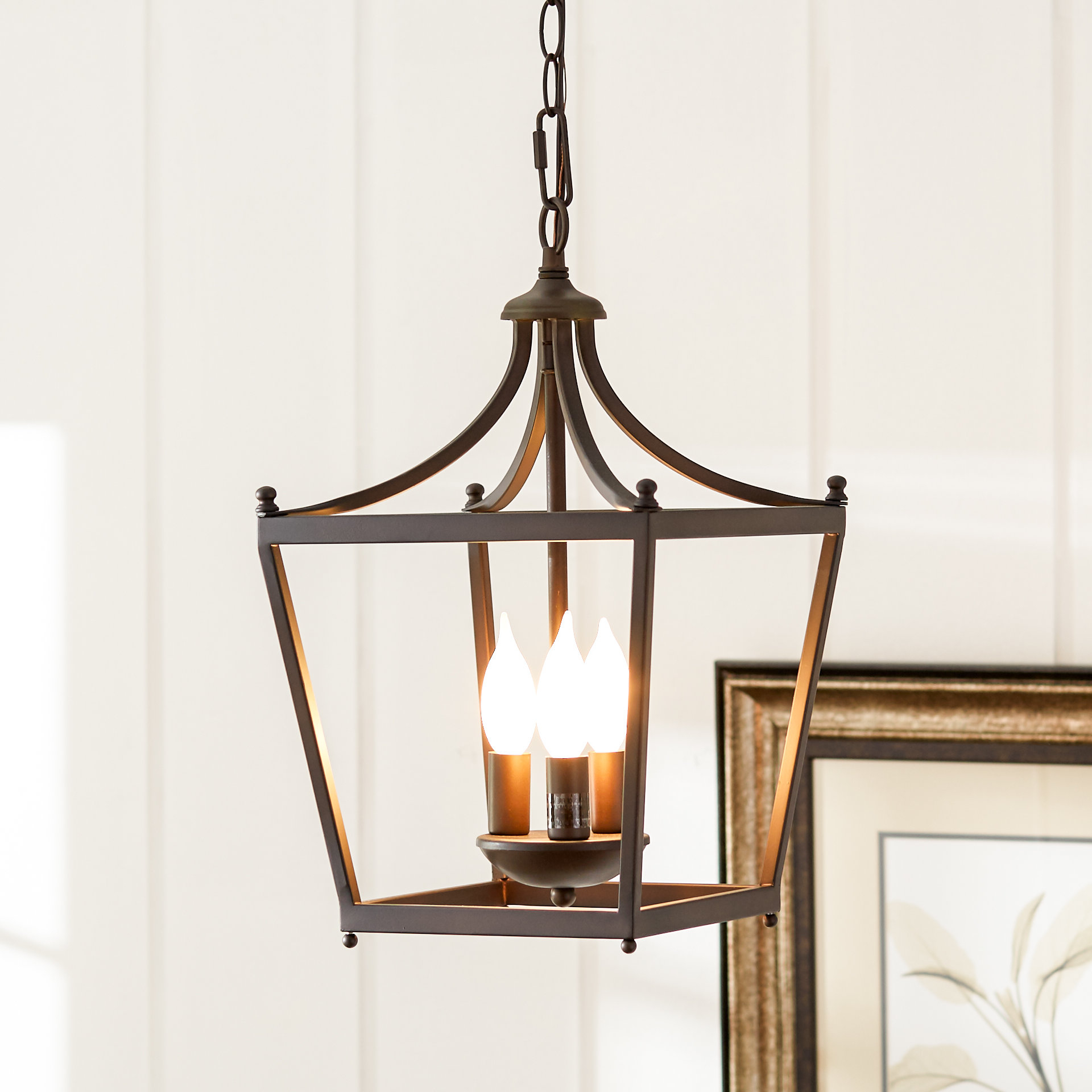 Trendy Louanne 3 Light Lantern Geometric Pendants Inside Birch Lane™ Heritage Gabriella 3 Light Lantern Pendant (View 21 of 25)