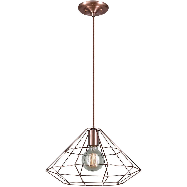 Trendy Mahek 1 Light Single Geometric Pendant Inside Novogratz Vintage 5 Light Kitchen Island Bulb Pendants (View 22 of 25)