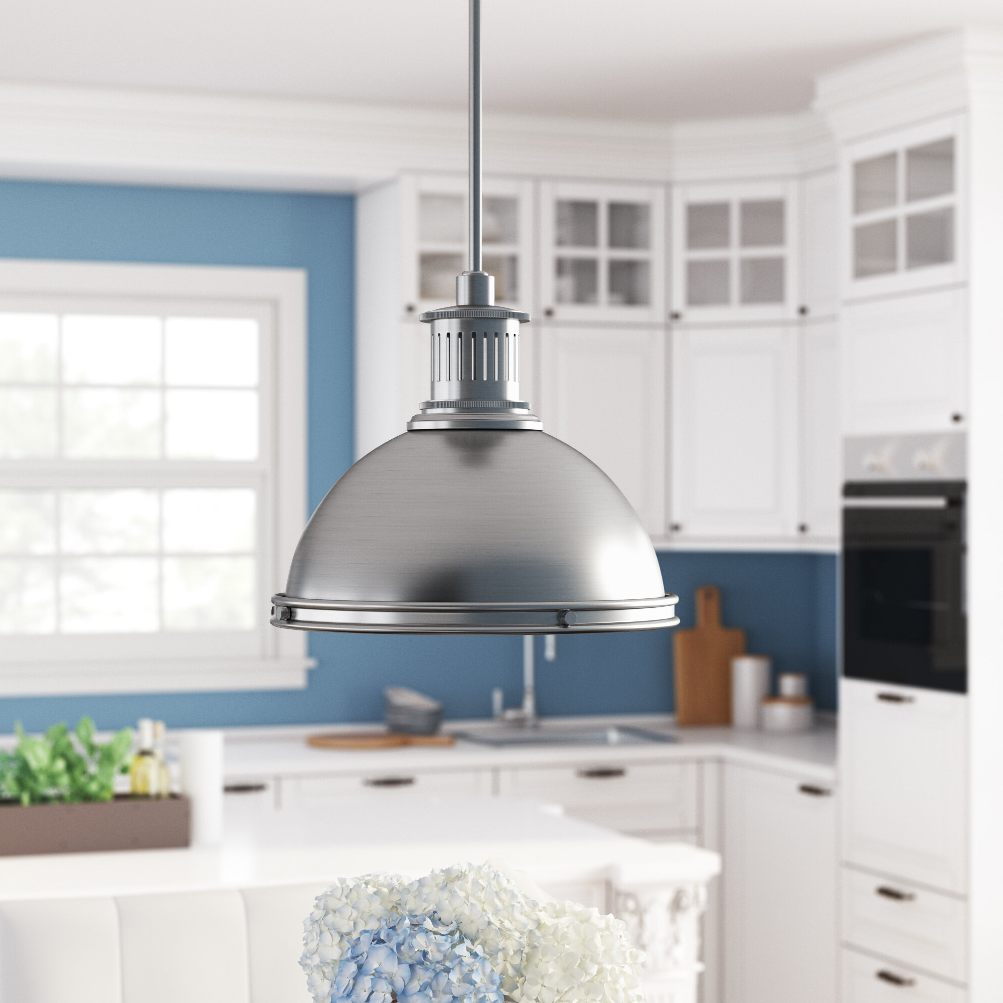 Trendy Ninette 1 Light Dome Pendant With Regard To Amara 3 Light Dome Pendants (View 24 of 25)