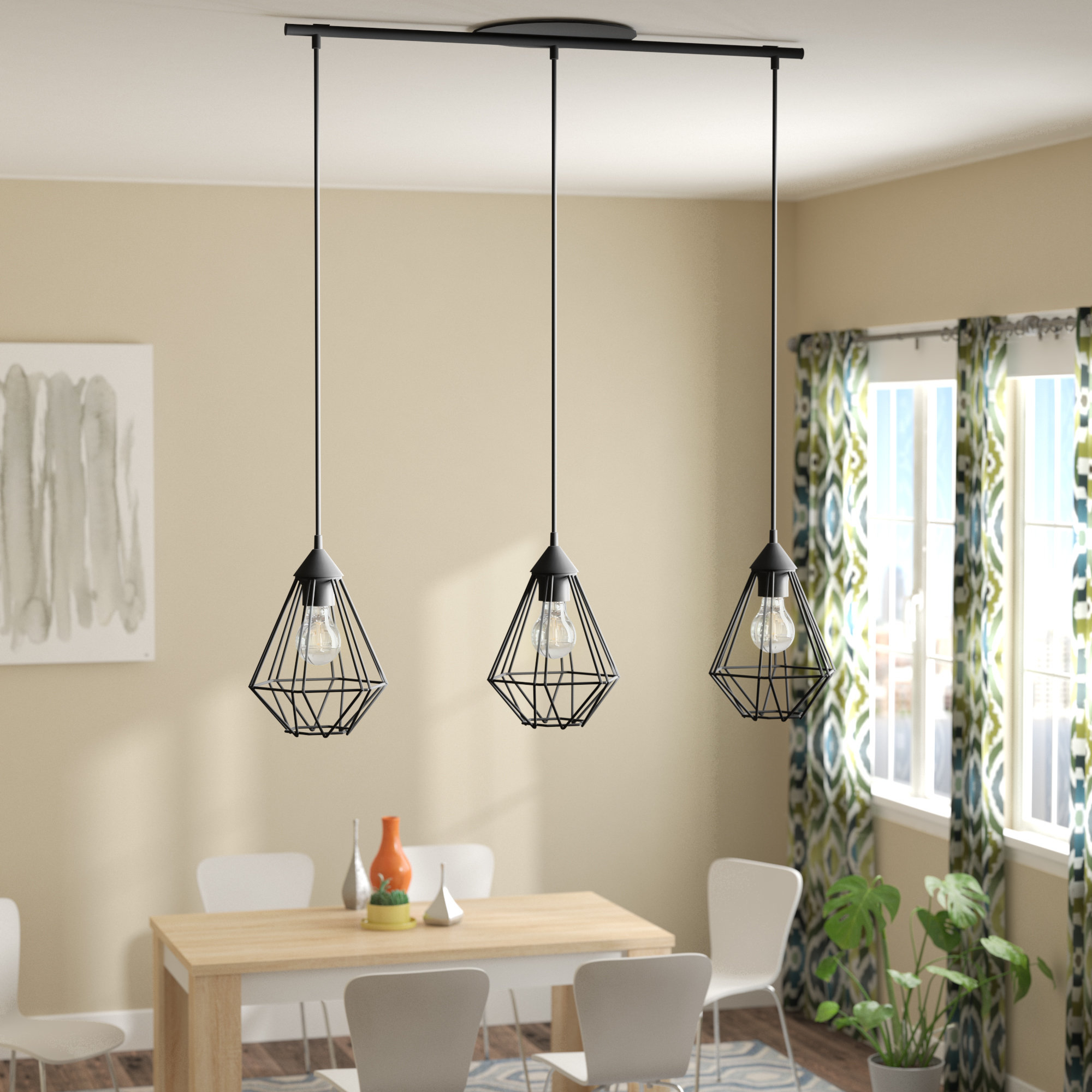 "Trendy Schutt 4 Light Kitchen Island Pendants Within Kitchen Island Mini (Less Than 10"" Wide) Pendant Lighting (View 7 of 25)"