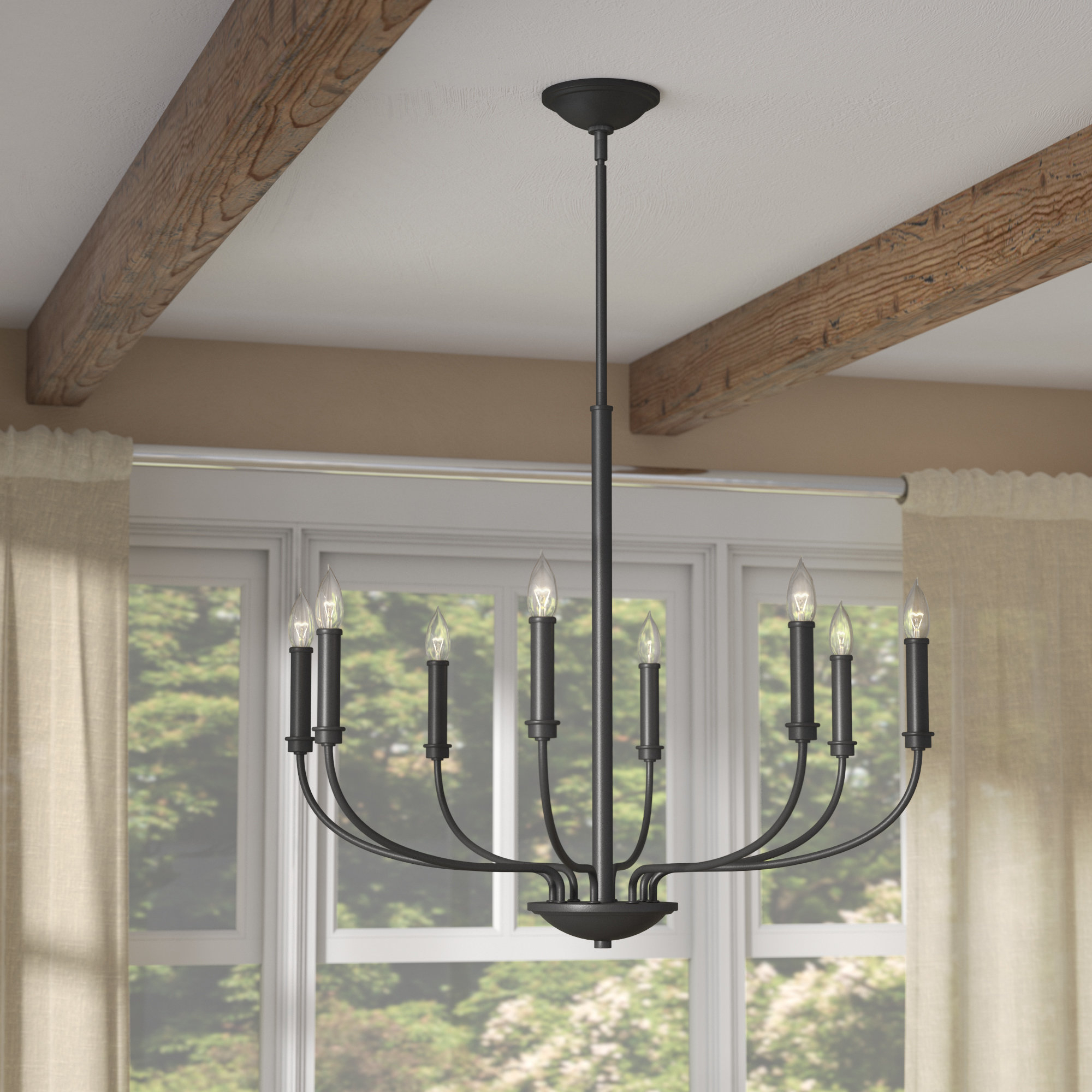 Trendy Shaylee 8 Light Candle Style Chandeliers In Kieu 8 Light Candle Style Chandelier (View 24 of 25)