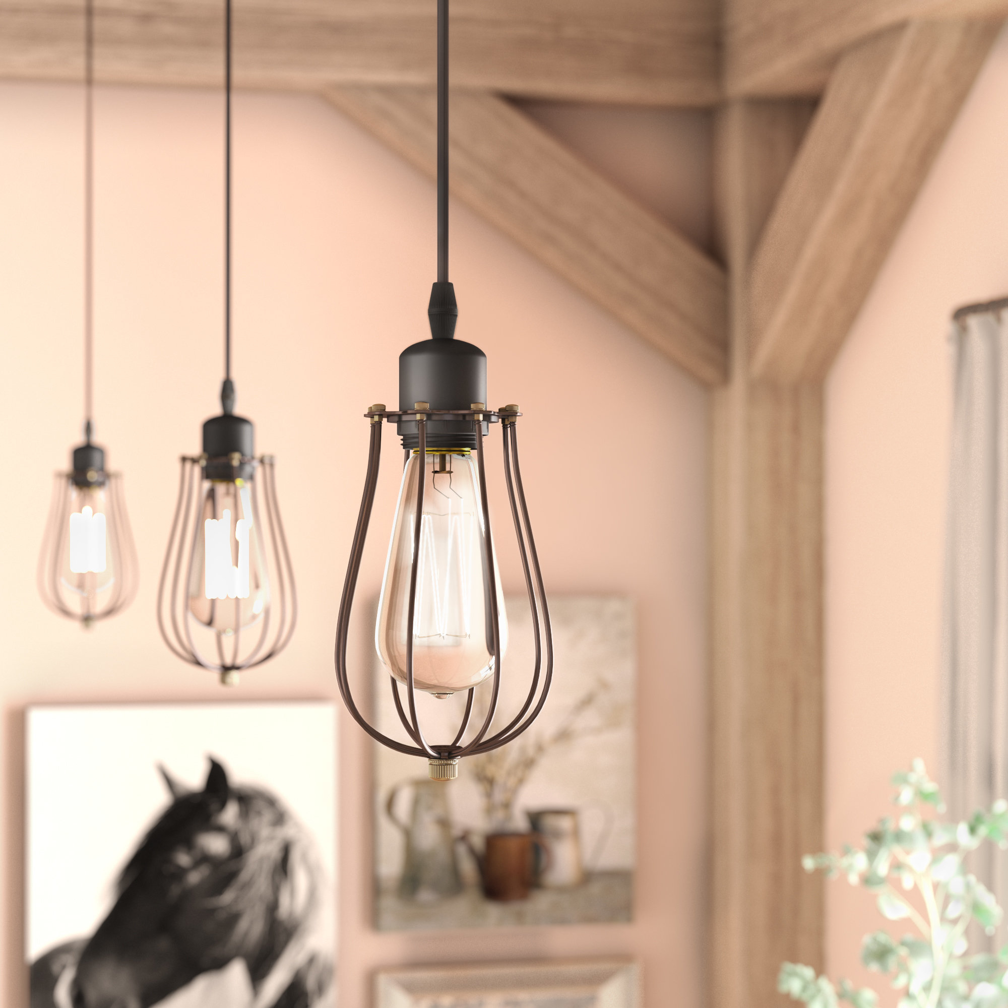 Trendy Sue 1 Light Single Jar Pendants For Armona 1 Light Single Geometric Pendant (View 17 of 25)