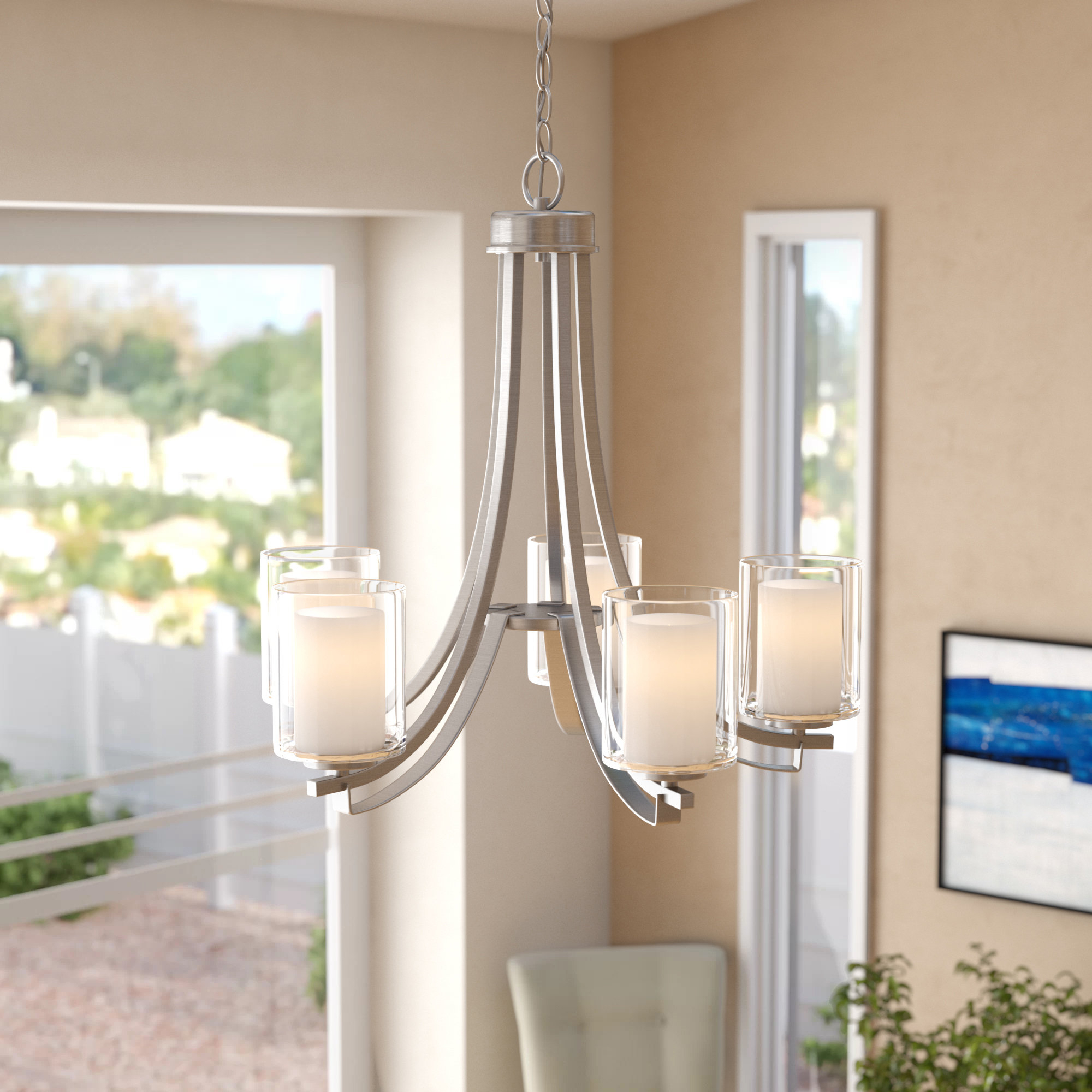Trendy Suki 5 Light Shaded Chandelier (View 22 of 25)