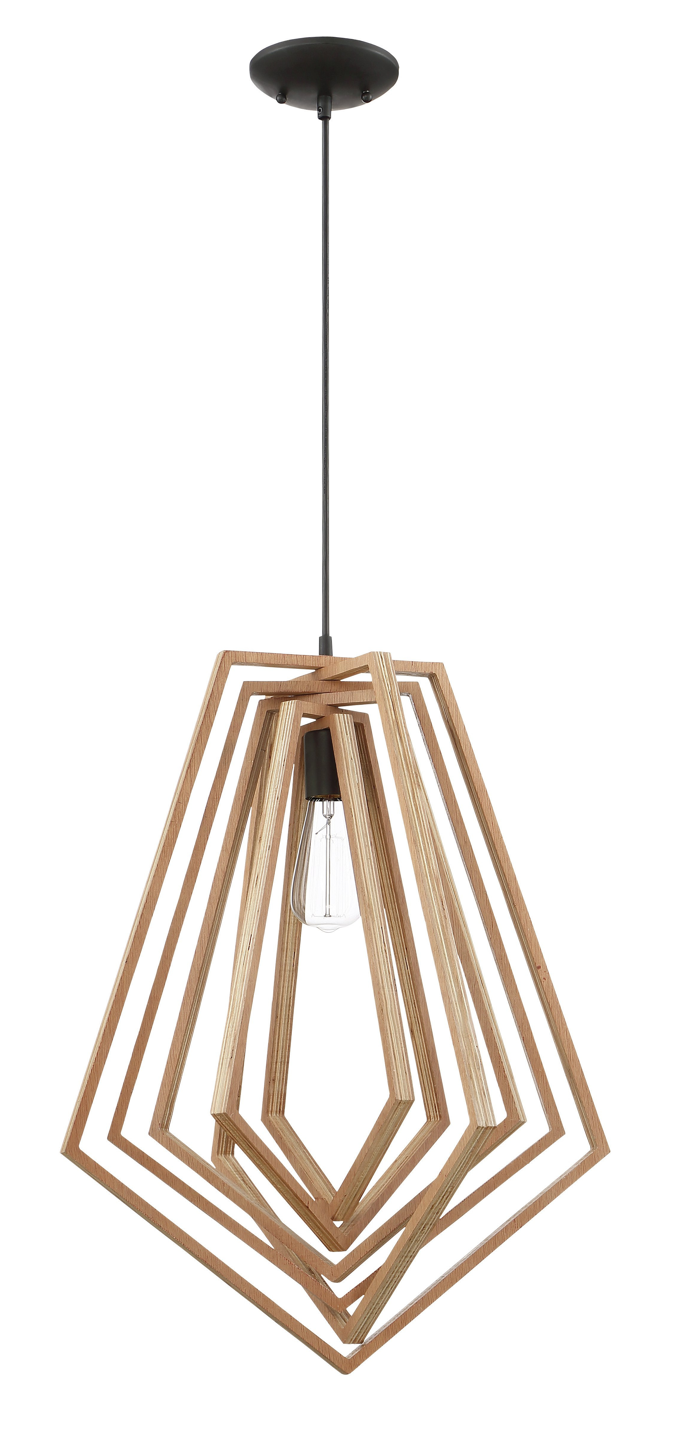 Union Rustic Shelbi 1 Light Geometric Pendant Regarding Preferred Melora 1 Light Single Geometric Pendants (View 21 of 25)