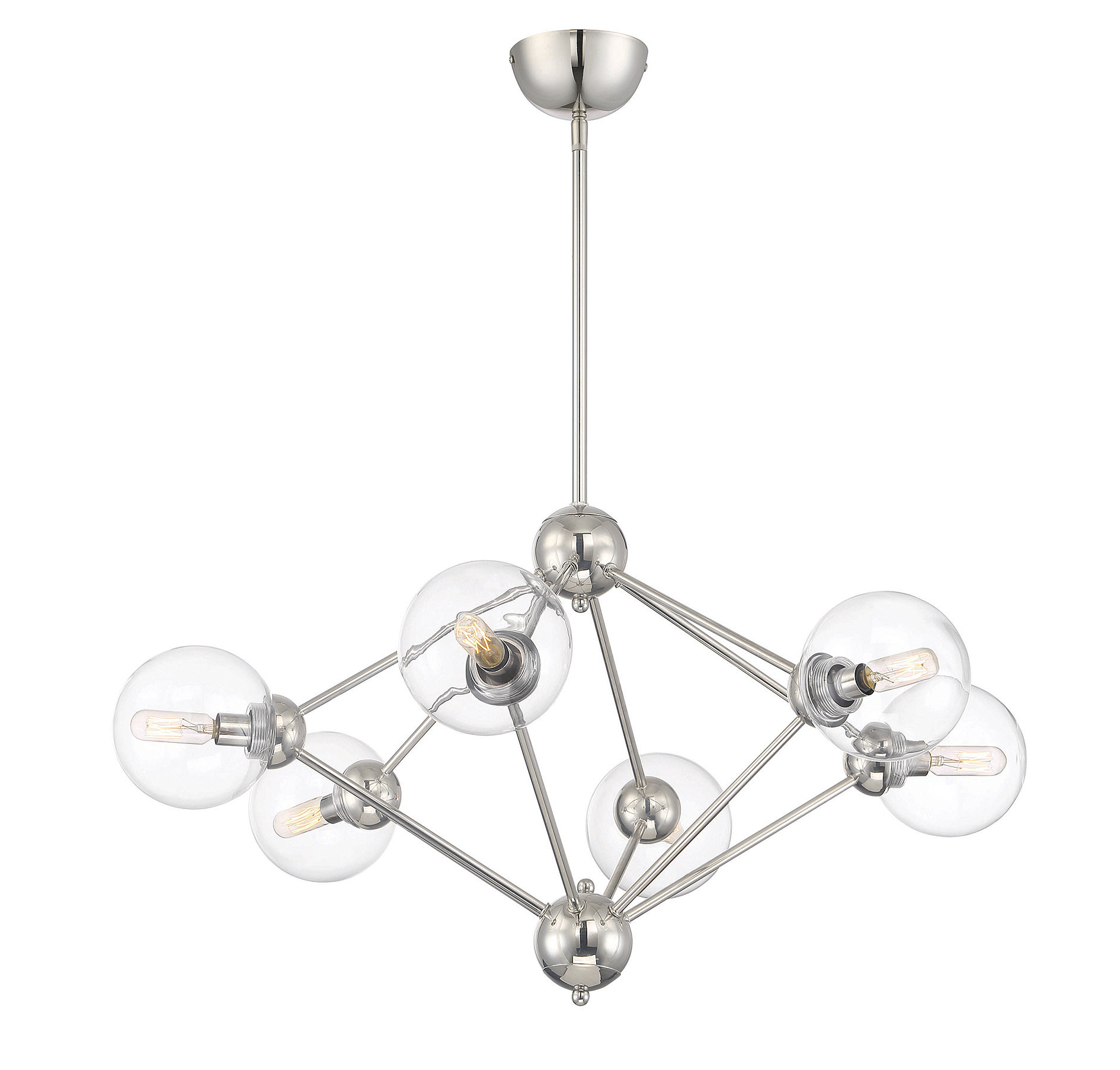 Valetta 6-Light Geometric Chandelier inside Latest Johanne 6-Light Sputnik Chandeliers