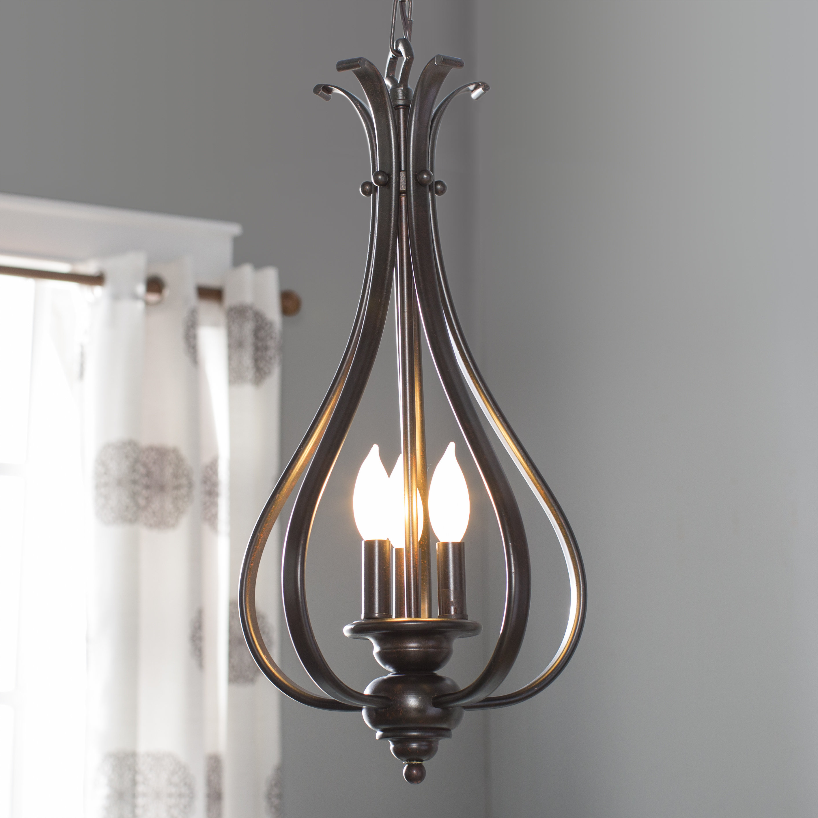 Van Horne 3-Light Single Teardrop Pendant pertaining to Widely used Warner Robins 3-Light Lantern Pendants