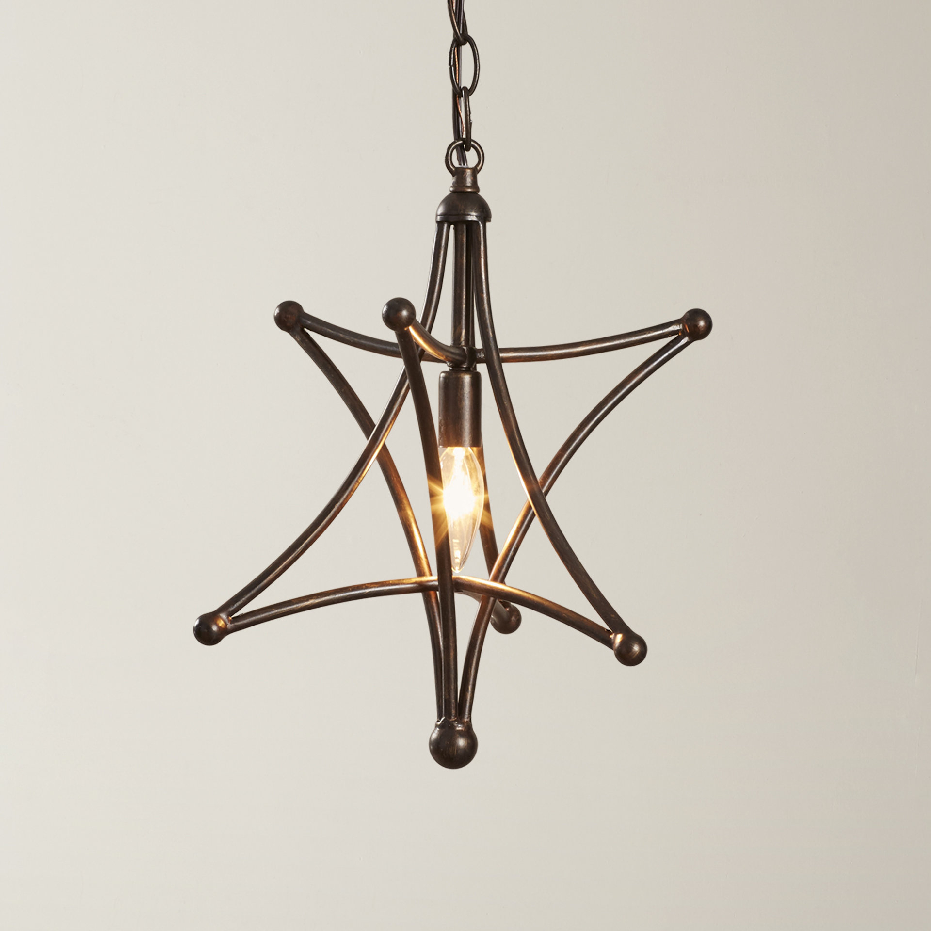 Van Horne 3 Light Single Teardrop Pendants In Most Recent Cynthia 1 Light Geometric Pendant (View 21 of 25)