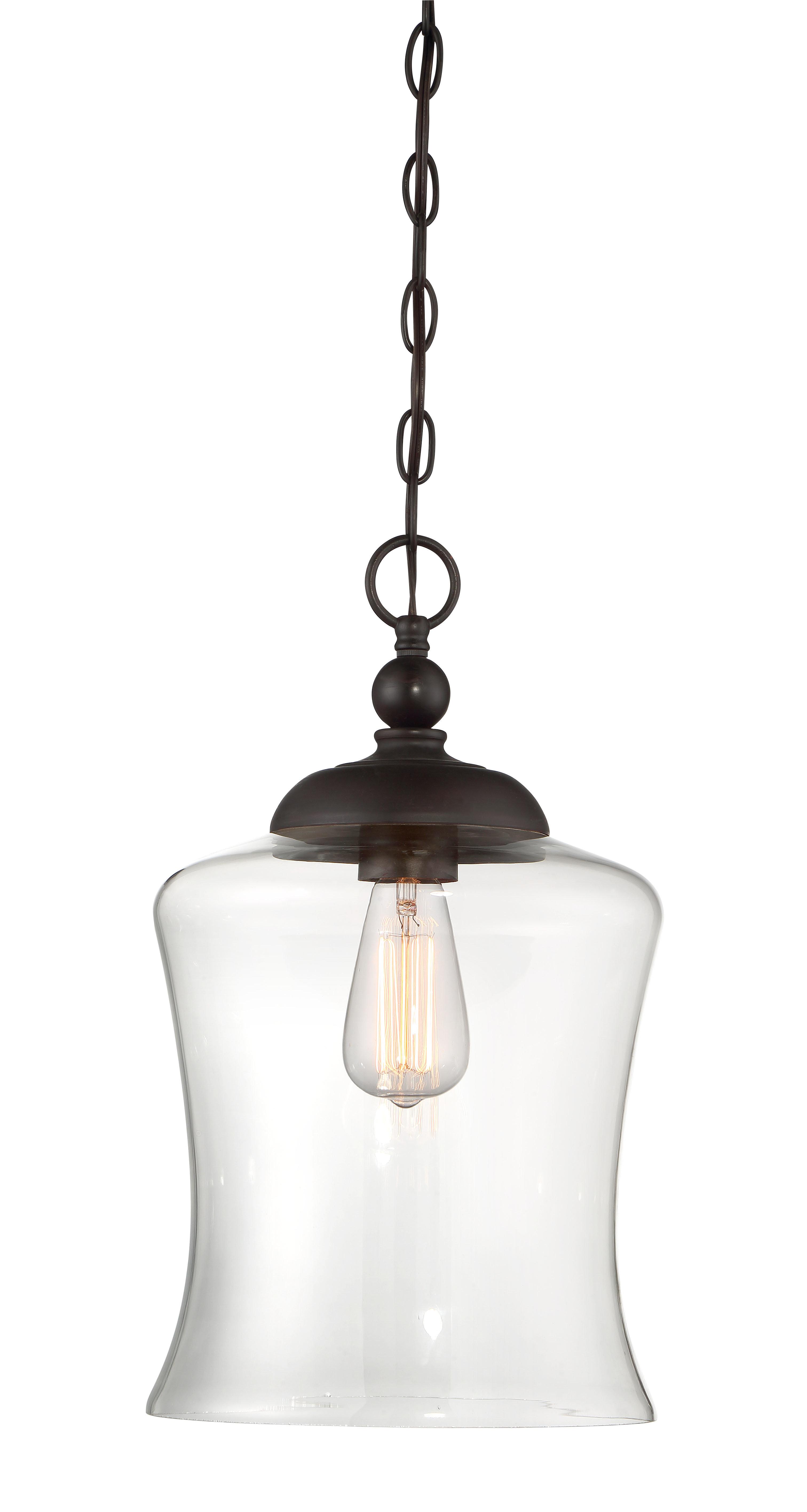 Van Horne 3-Light Single Teardrop Pendants pertaining to Most Current Wentzville 1-Light Single Bell Pendant