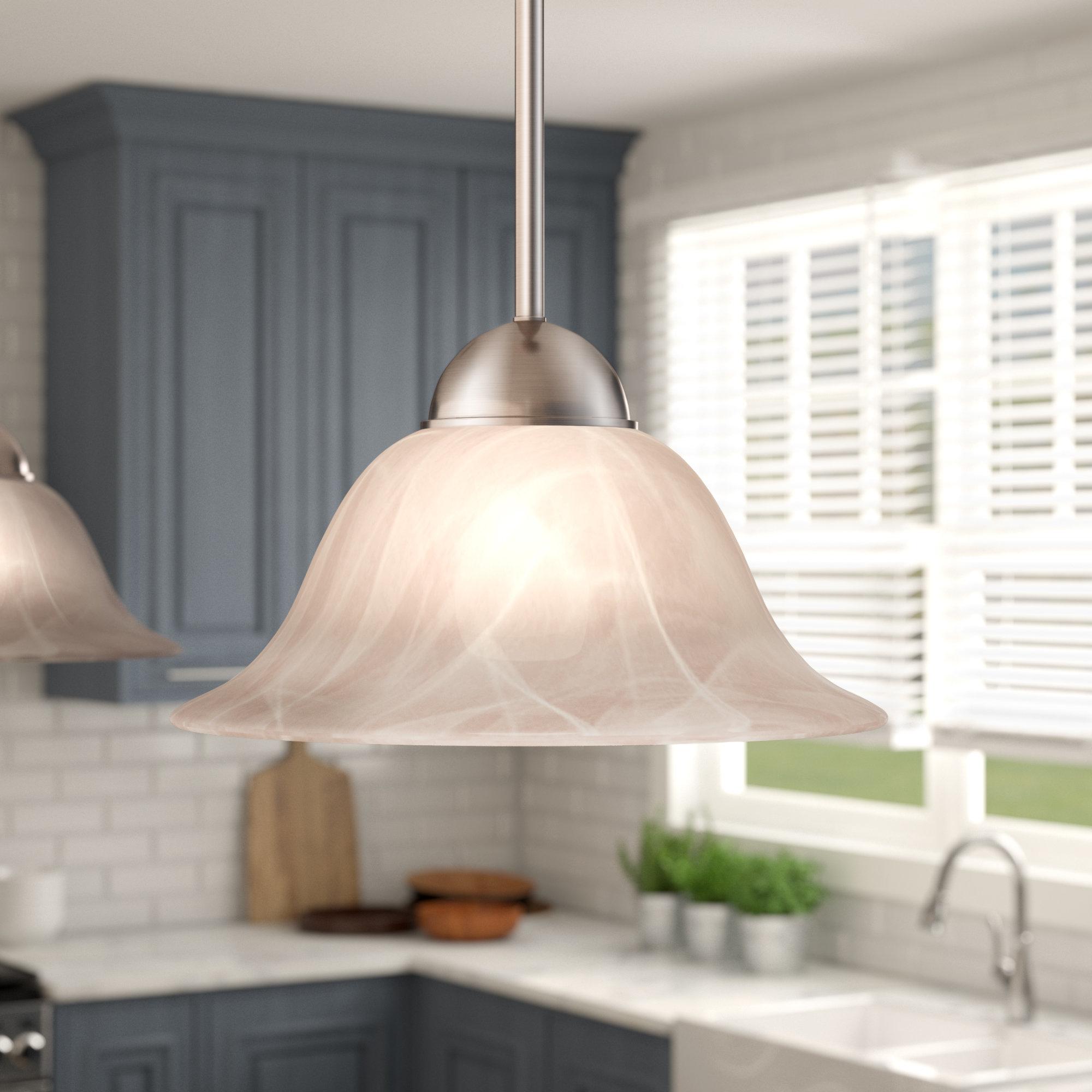 Van Nest 1-Light Single Bell Pendant throughout Trendy Van Horne 3-Light Single Teardrop Pendants
