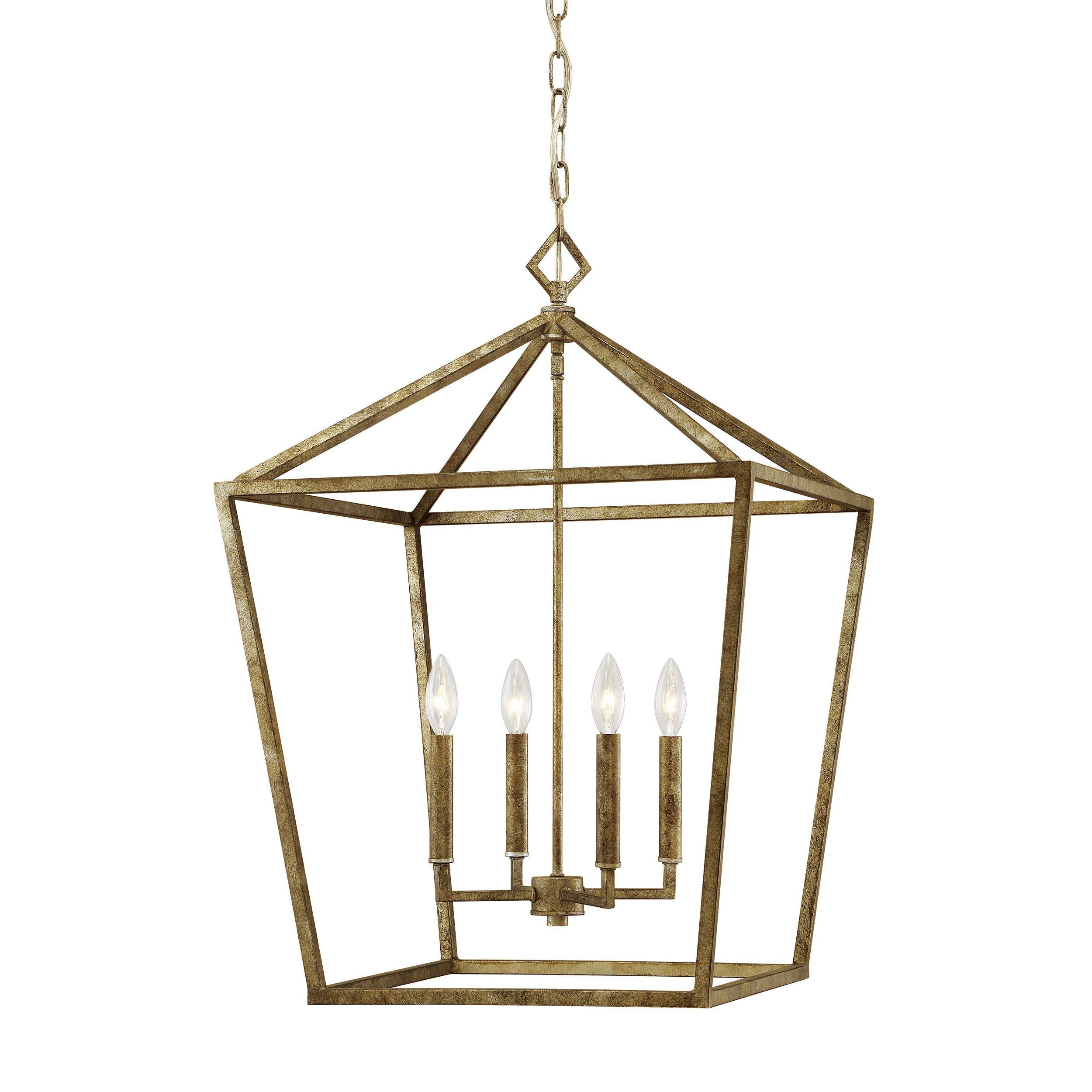 Varnum 4 Light Lantern Pendant In Favorite Finnick 4 Light Foyer Pendants (Gallery 22 of 25)