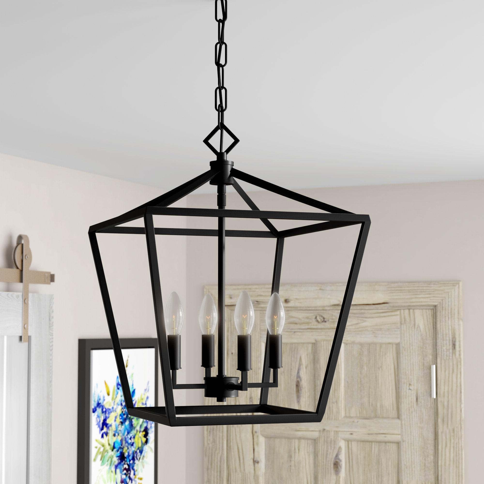 Varnum 4 Light Lantern Pendants For Famous Poisson 4 Light Lantern Pendant (Gallery 9 of 25)