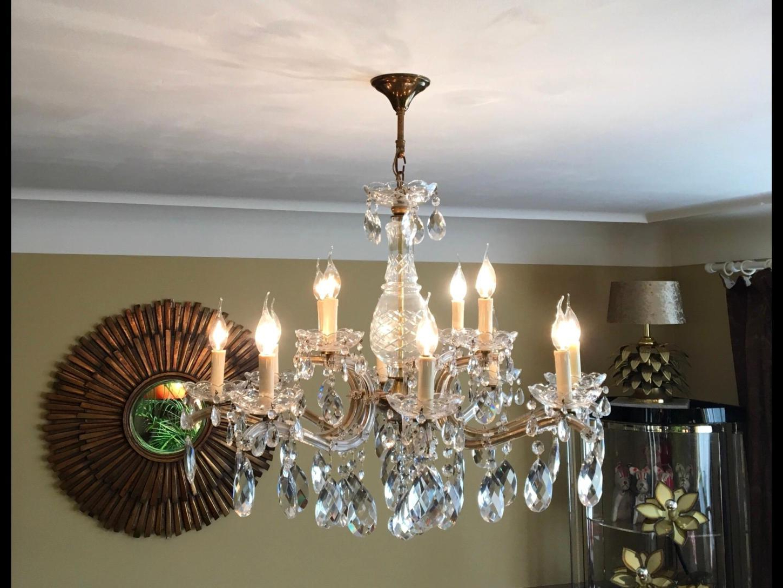 Verdell 5 Light Crystal Chandeliers For Popular Elegant Hanging Crystal Chandelier – Havere (View 20 of 25)