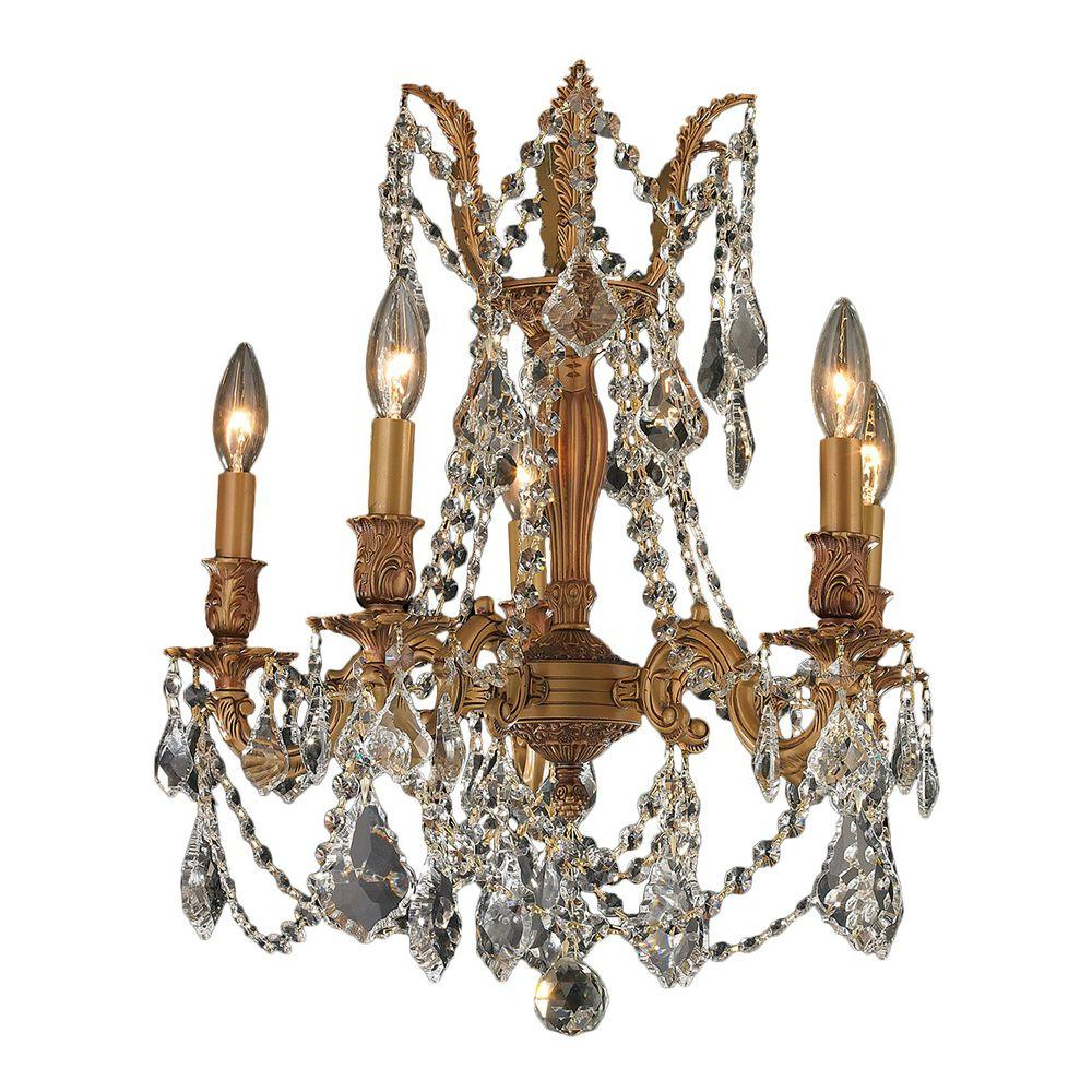 Verdell 5-Light Crystal Chandeliers for Preferred 5 Light Crystal Chandelier