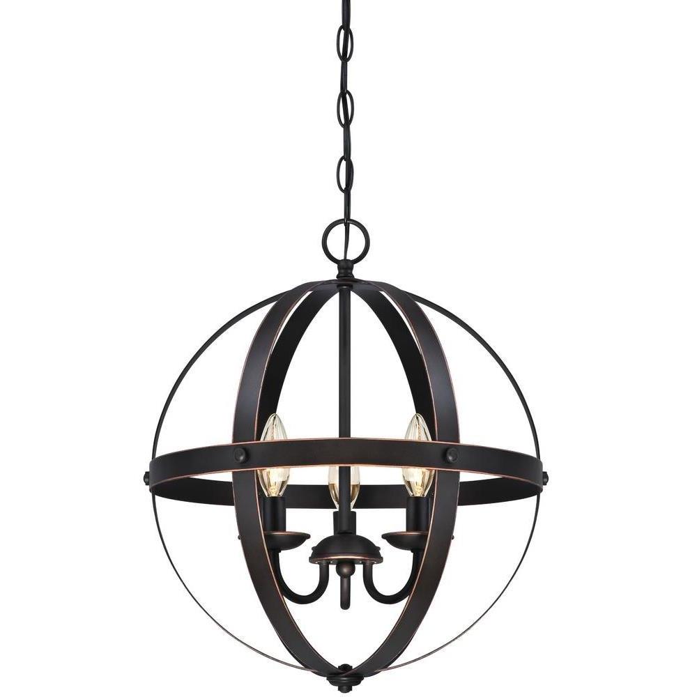 Verlene Foyer 5-Light Globe Chandeliers with regard to Best and Newest La Barge 3-Light Globe Chandelier