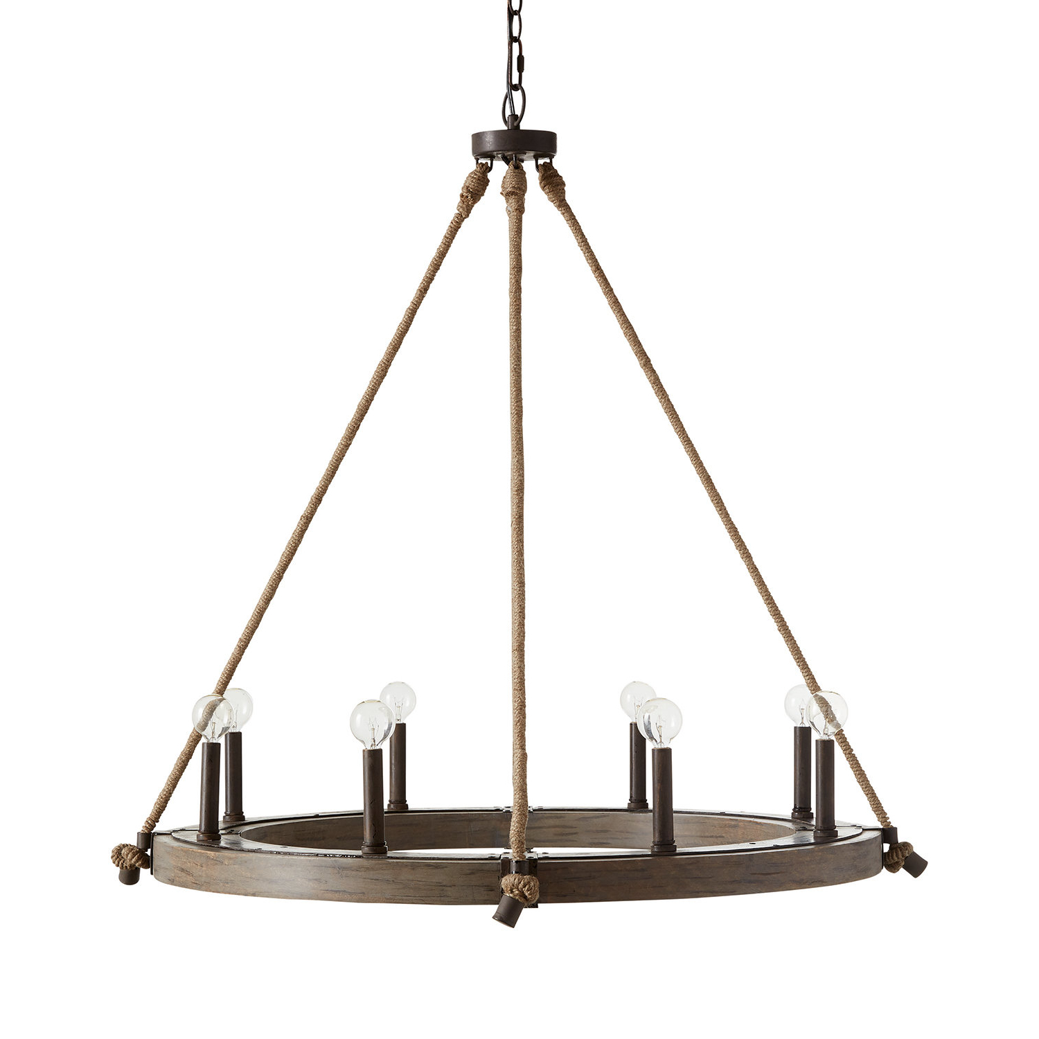 Verona 8-Light Wagon Wheel Chandelier for Trendy Shayla 12-Light Wagon Wheel Chandeliers