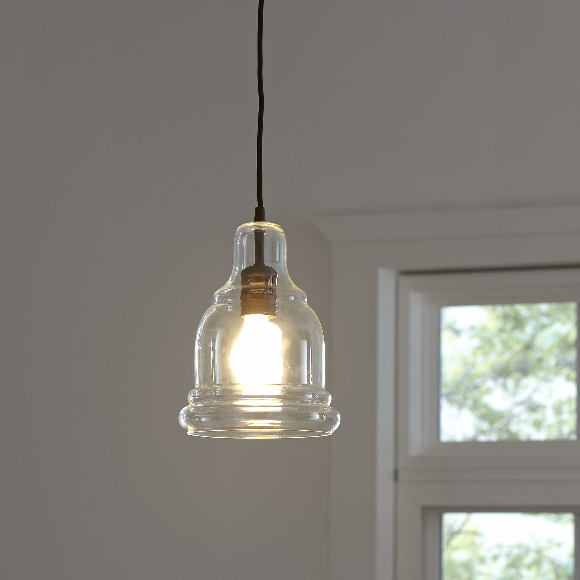 Vintage Edison 1-Light Bowl Pendants in Well-known Rafaello Edison 1-Light Bell Pendant