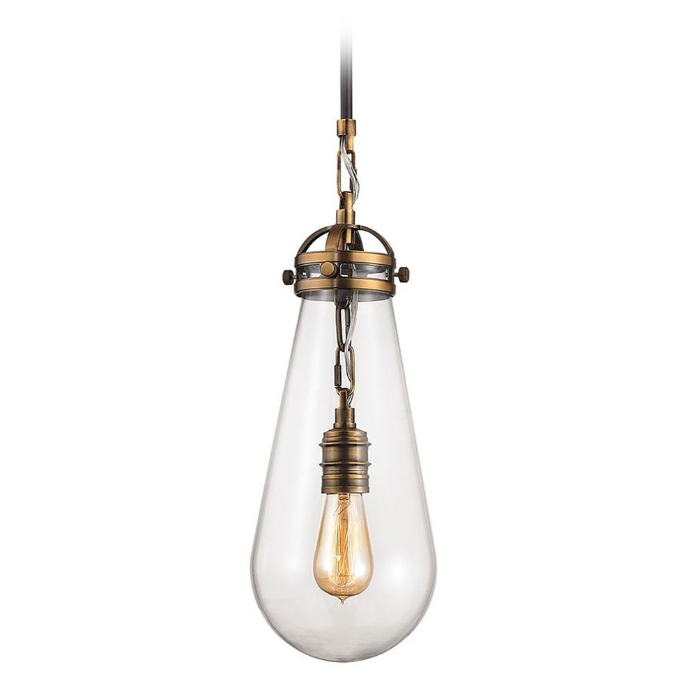 Vintage Edison 1-Light Bowl Pendants regarding Current Elk Lighting Gramercy Antique Brass, Oil Rubbed Bronze Mini-Pendant Light  With Bowl / Dome Shade At Destination Lighting