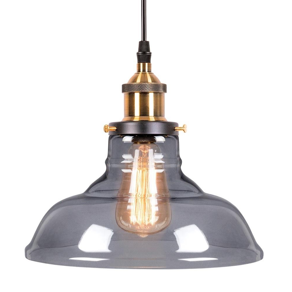 Vintage Edison 1-Light Bowl Pendants within Well-liked Edison Factory Glass Bowl Pendant Light - Antique Gold