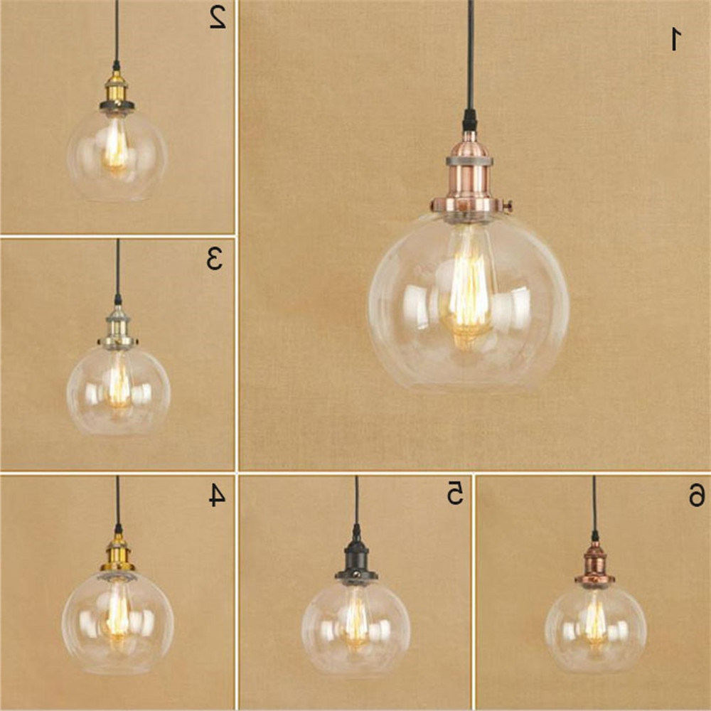 Vintage Pendant Lights Retro Glass Hanglamp Russia Loft Lamparas  Modern Kitchen Dining Bedroom Glass Lampshades Lighting Lustres In Pendant (View 24 of 25)