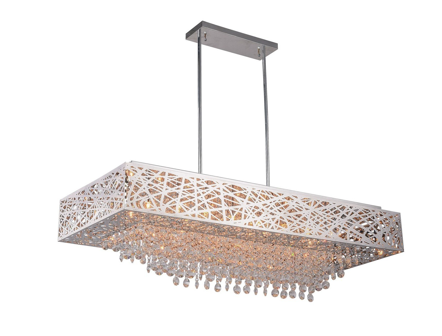 Von 4-Light Crystal Chandeliers pertaining to Well-liked Langley 16-Light Crystal Chandelier