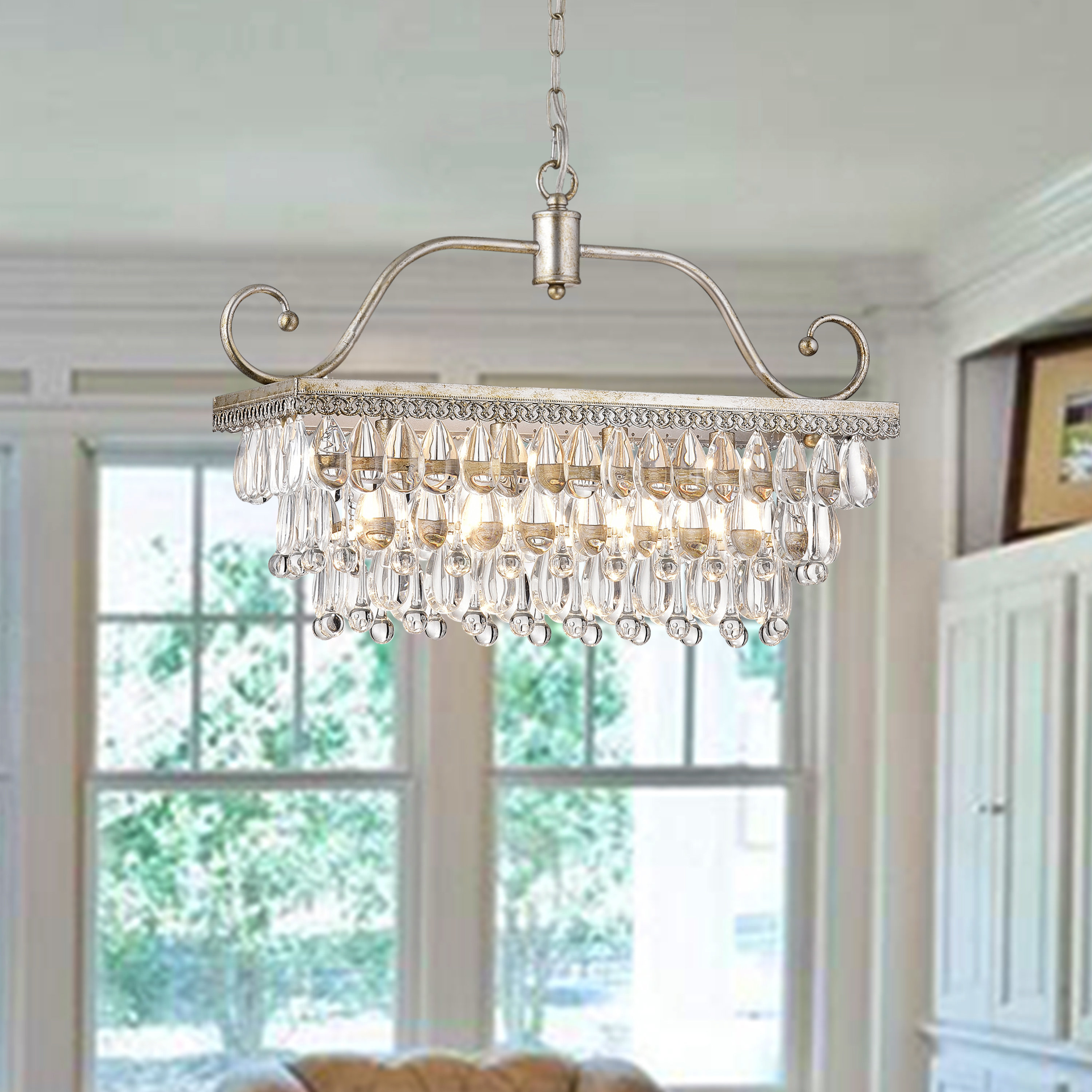 Von 4 Light Crystal Chandeliers Within Widely Used Gerhart 4 Light Crystal Chandelier (View 2 of 25)