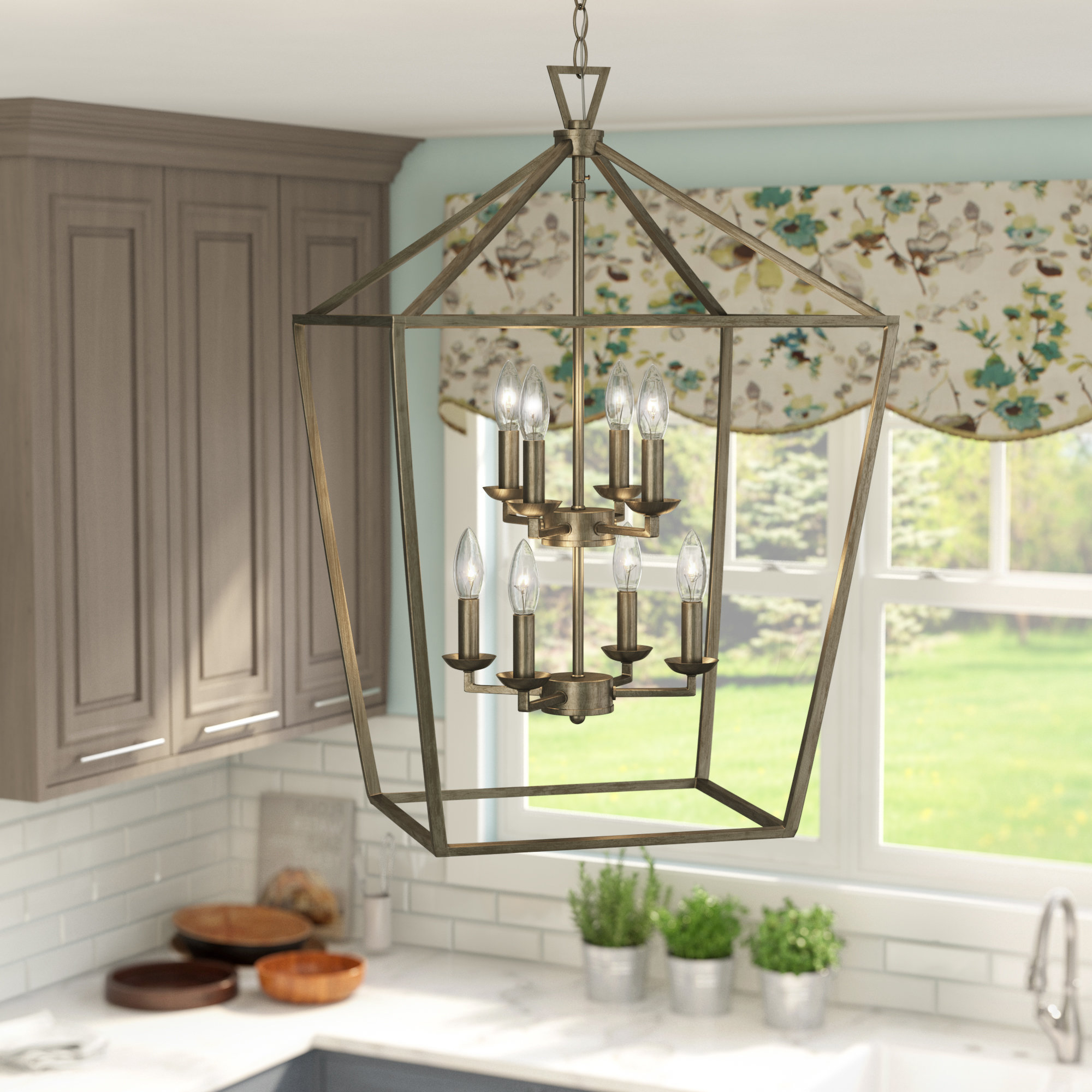 Wayfair Intended For Chauvin 3 Light Lantern Geometric Pendants (View 16 of 25)