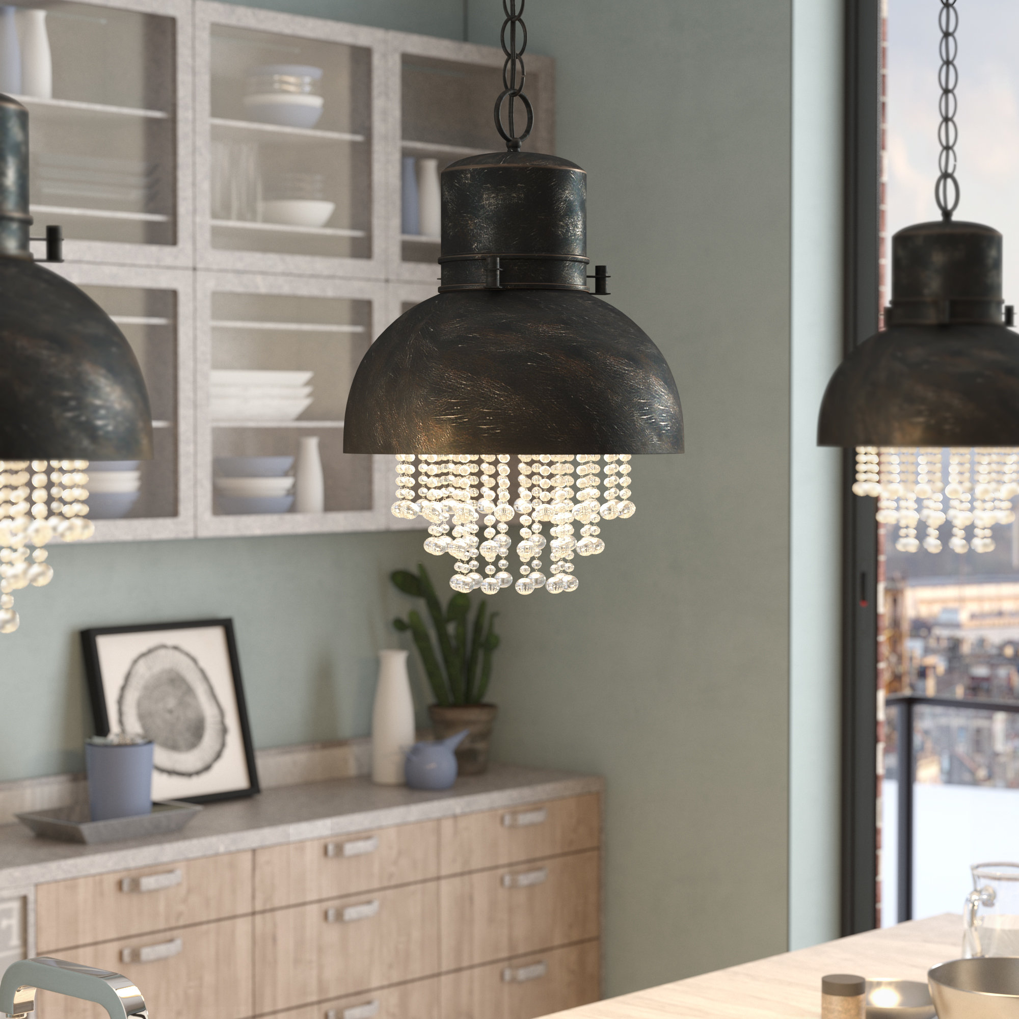 Wayfair Intended For Schutt 5 Light Cluster Pendants (View 10 of 25)